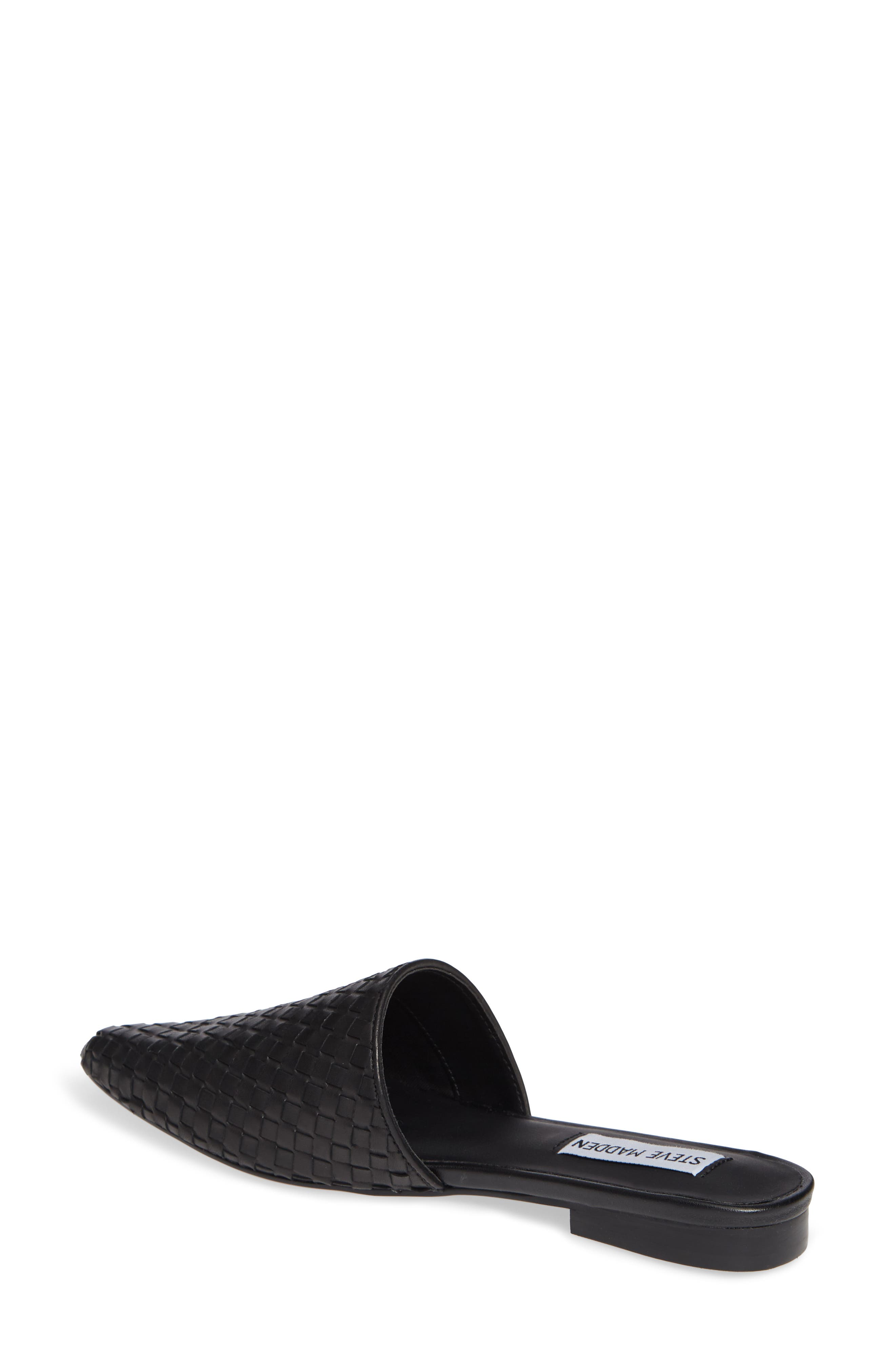 Timid Woven Mule,                             Alternate thumbnail 2, color,                             BLACK LEATHER