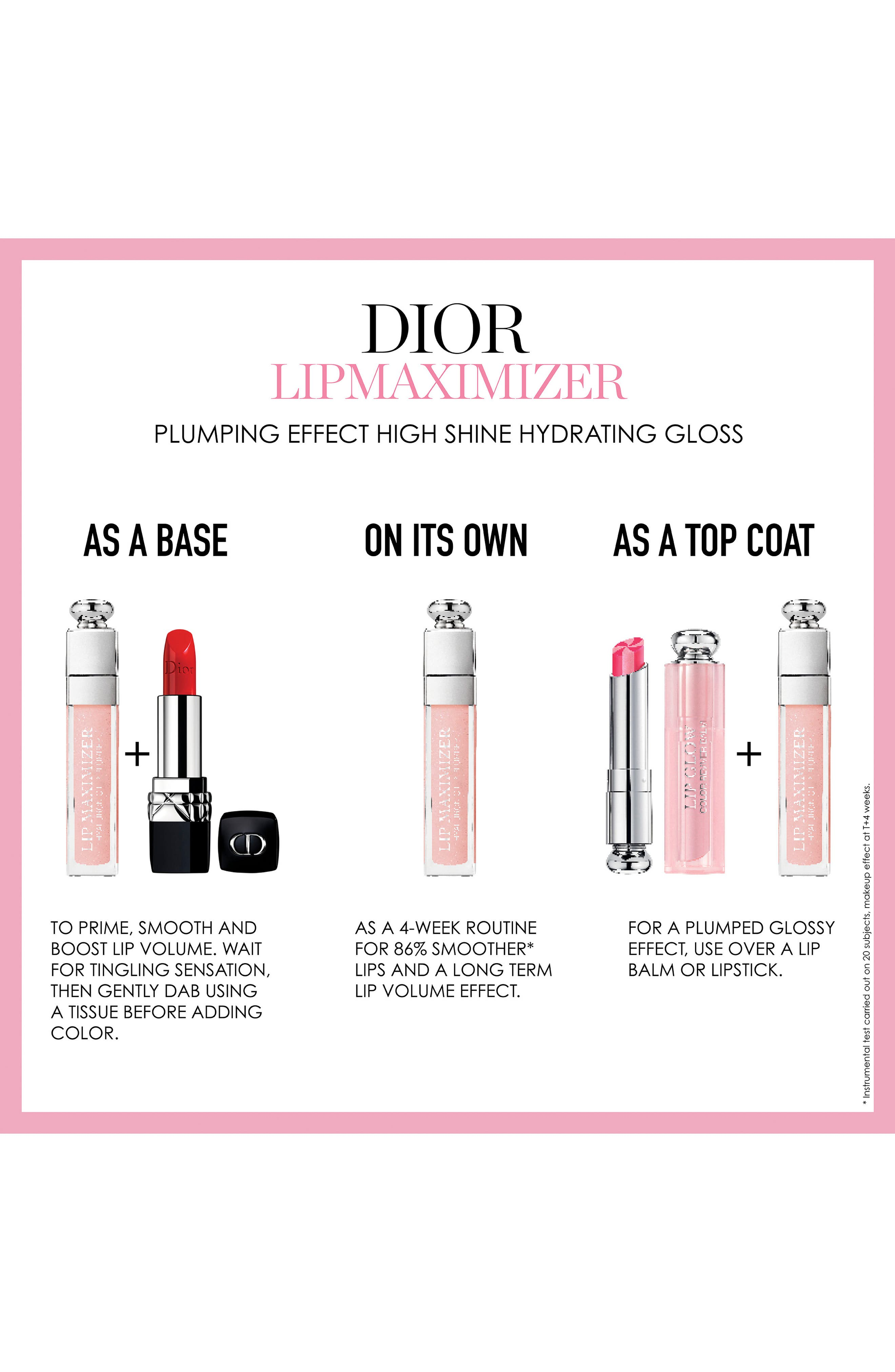DIOR,                             Addict Lip Maximizer,                             Alternate thumbnail 9, color,                             007 RASPBERRY/ GLOW