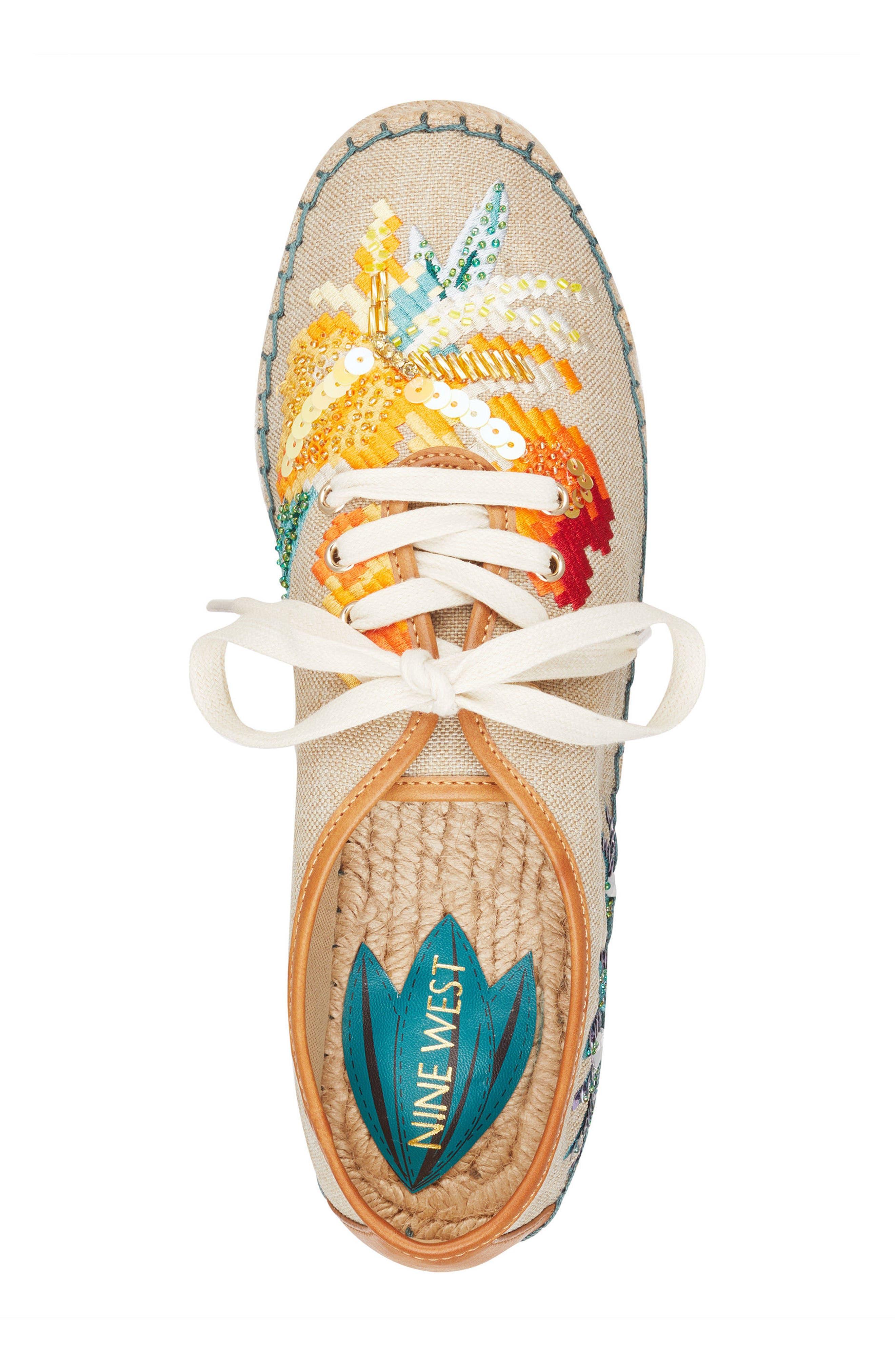 Guinup Embellished Espadrille Sneaker,                             Alternate thumbnail 5, color,                             250