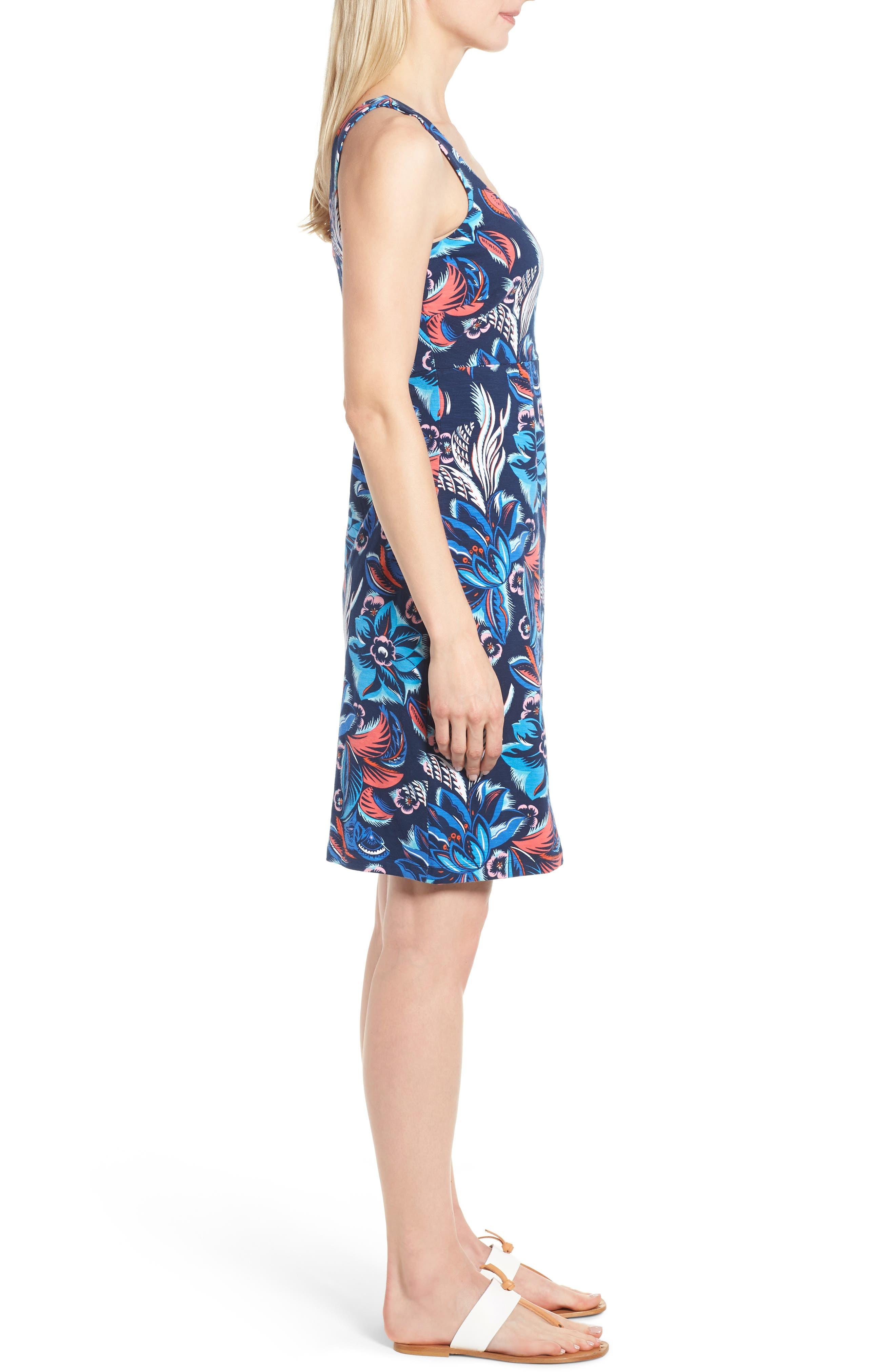 Bohemian Blossoms Tank Dress,                             Alternate thumbnail 3, color,                             OCEAN DEEP