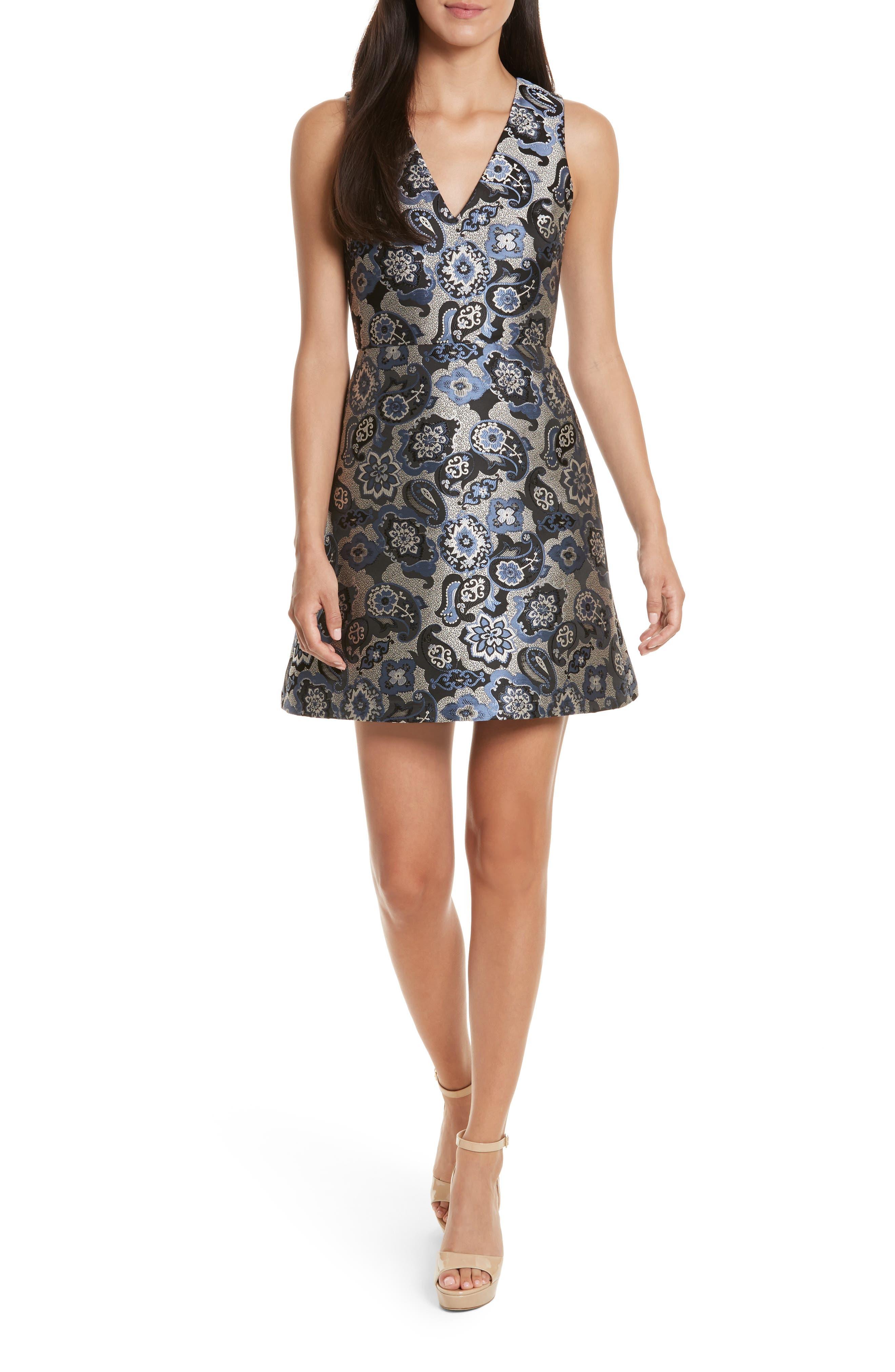 Malin V-Neck Dress, Main, color, 499