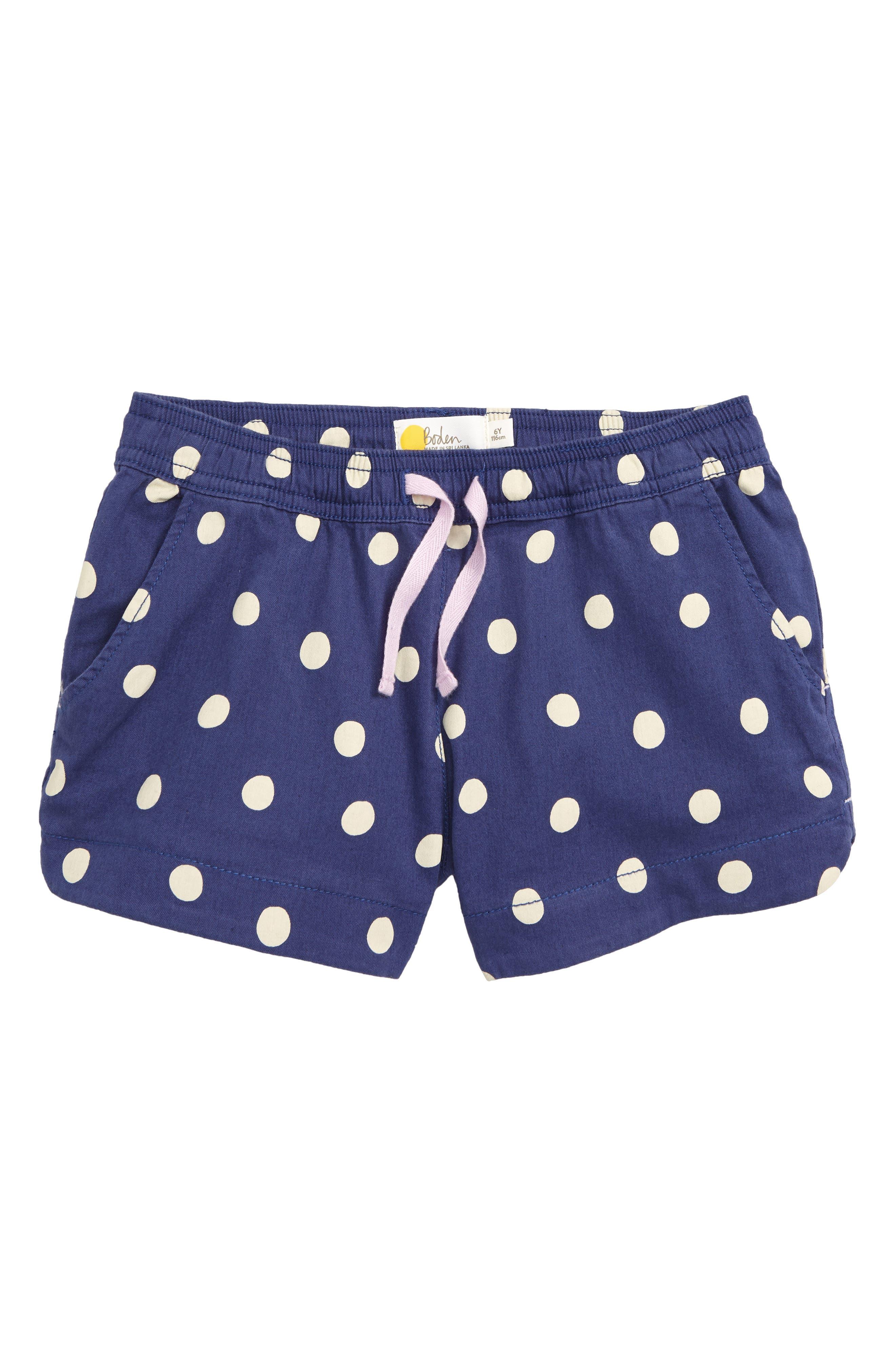 BODEN Heart Pocket Shorts, Main, color, BLU STARBOARD BLUE/ ECRU SPOT
