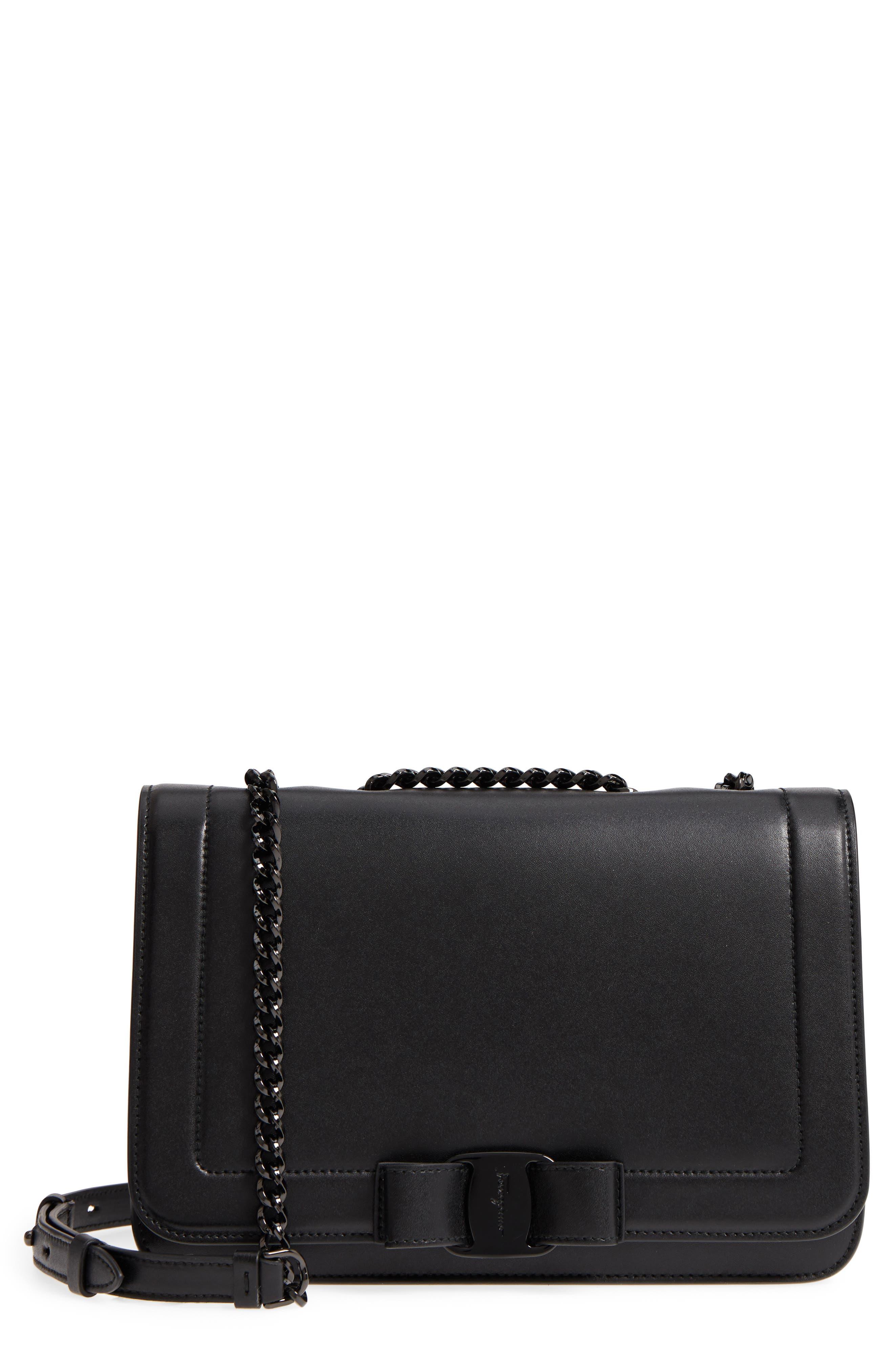 Vara Leather Crossbody Bag,                         Main,                         color, NERO