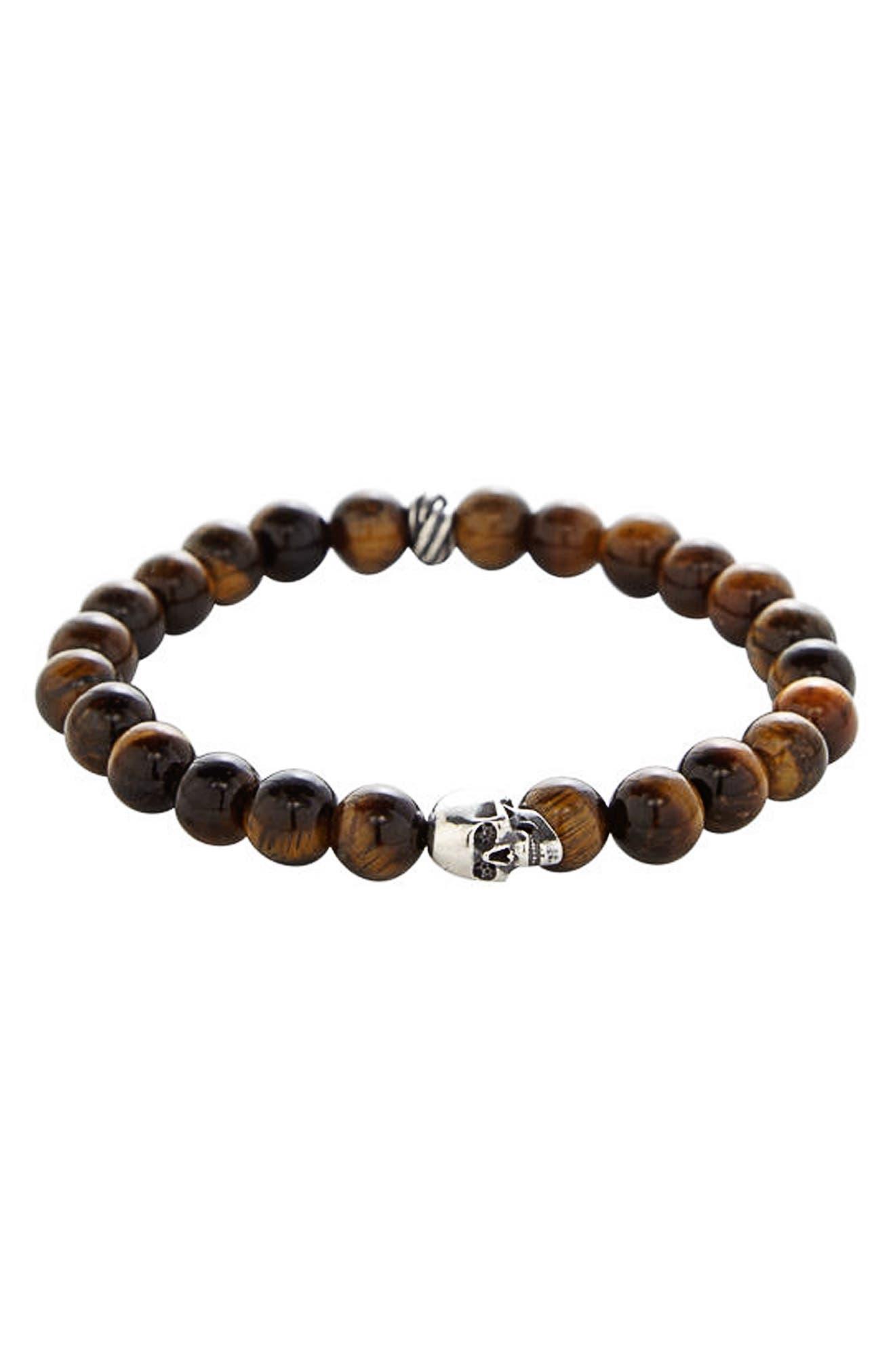 Stone Bead Stretch Bracelet,                         Main,                         color, 200