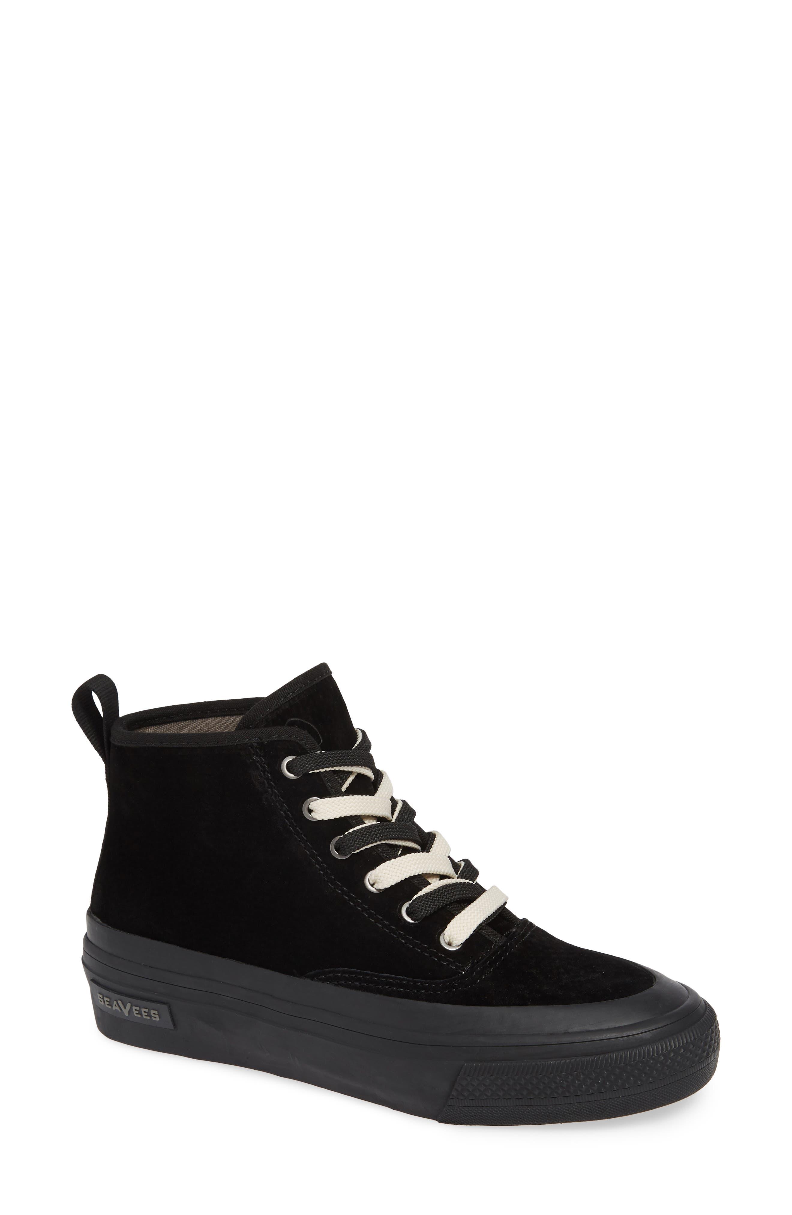 SEAVEES Mariners Waterproof Sneaker in Black