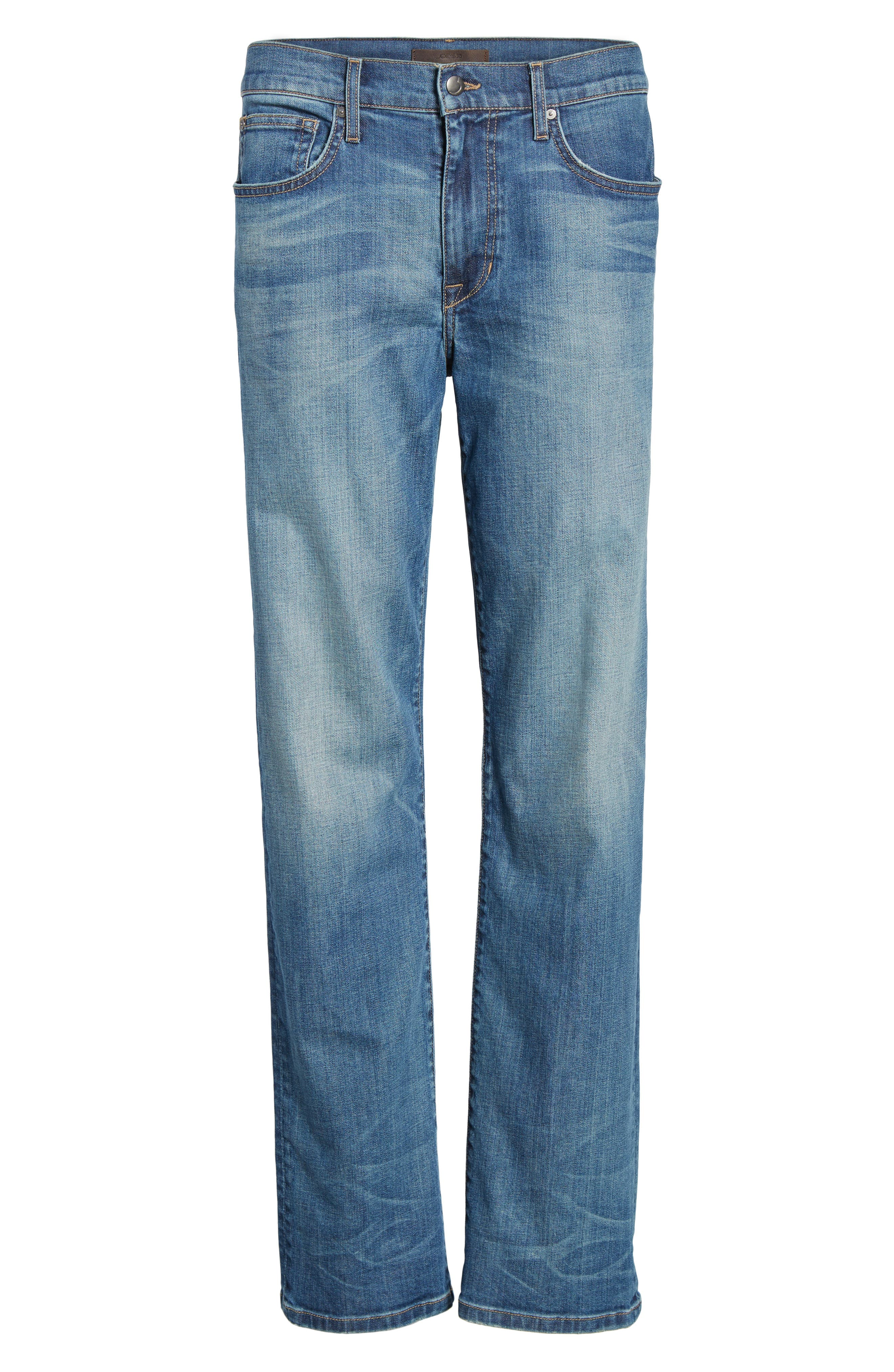 Classic Straight Fit Jeans,                             Alternate thumbnail 6, color,                             400
