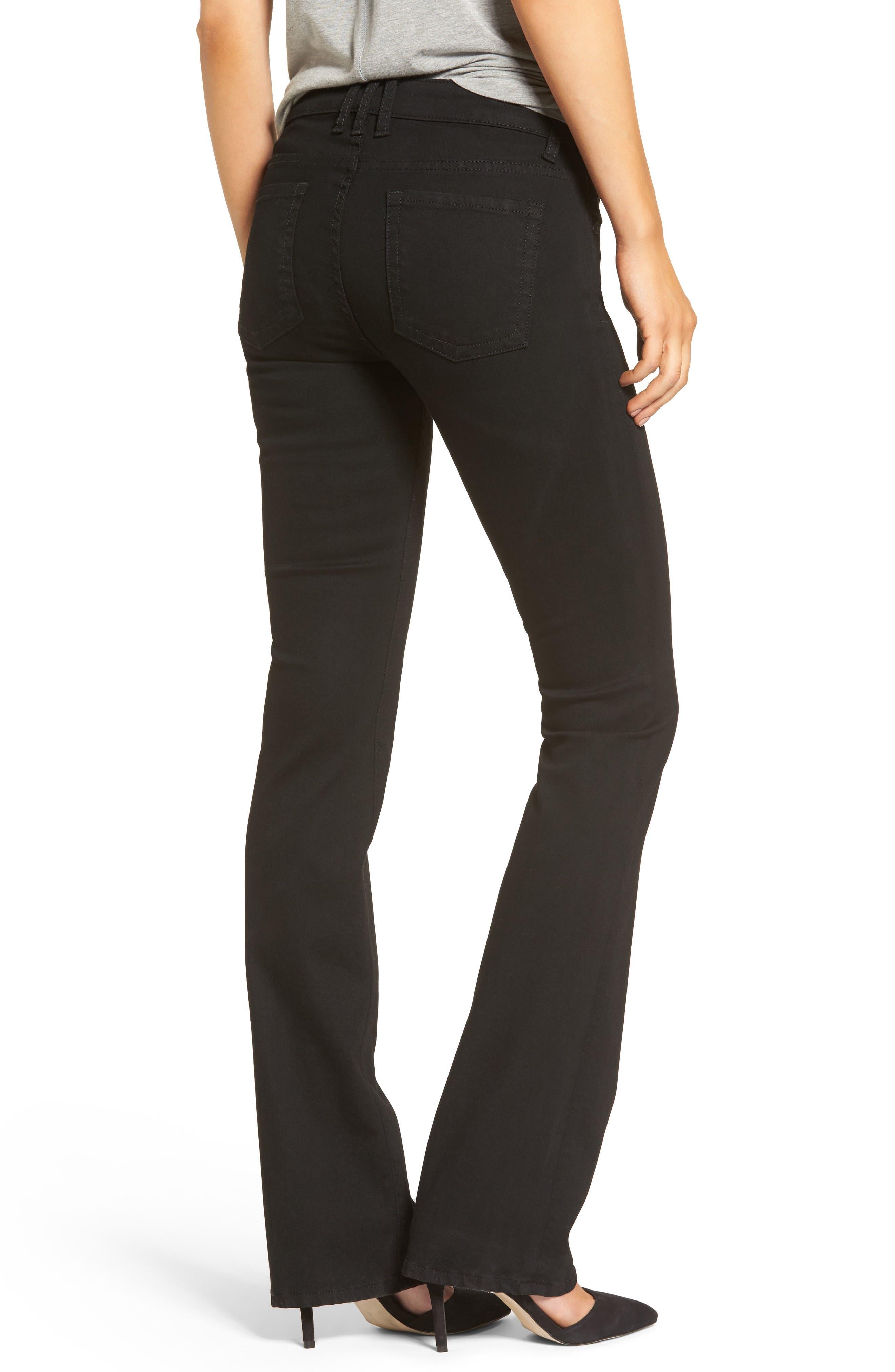 Natalie Stretch Bootleg Jeans,                             Alternate thumbnail 2, color,                             002