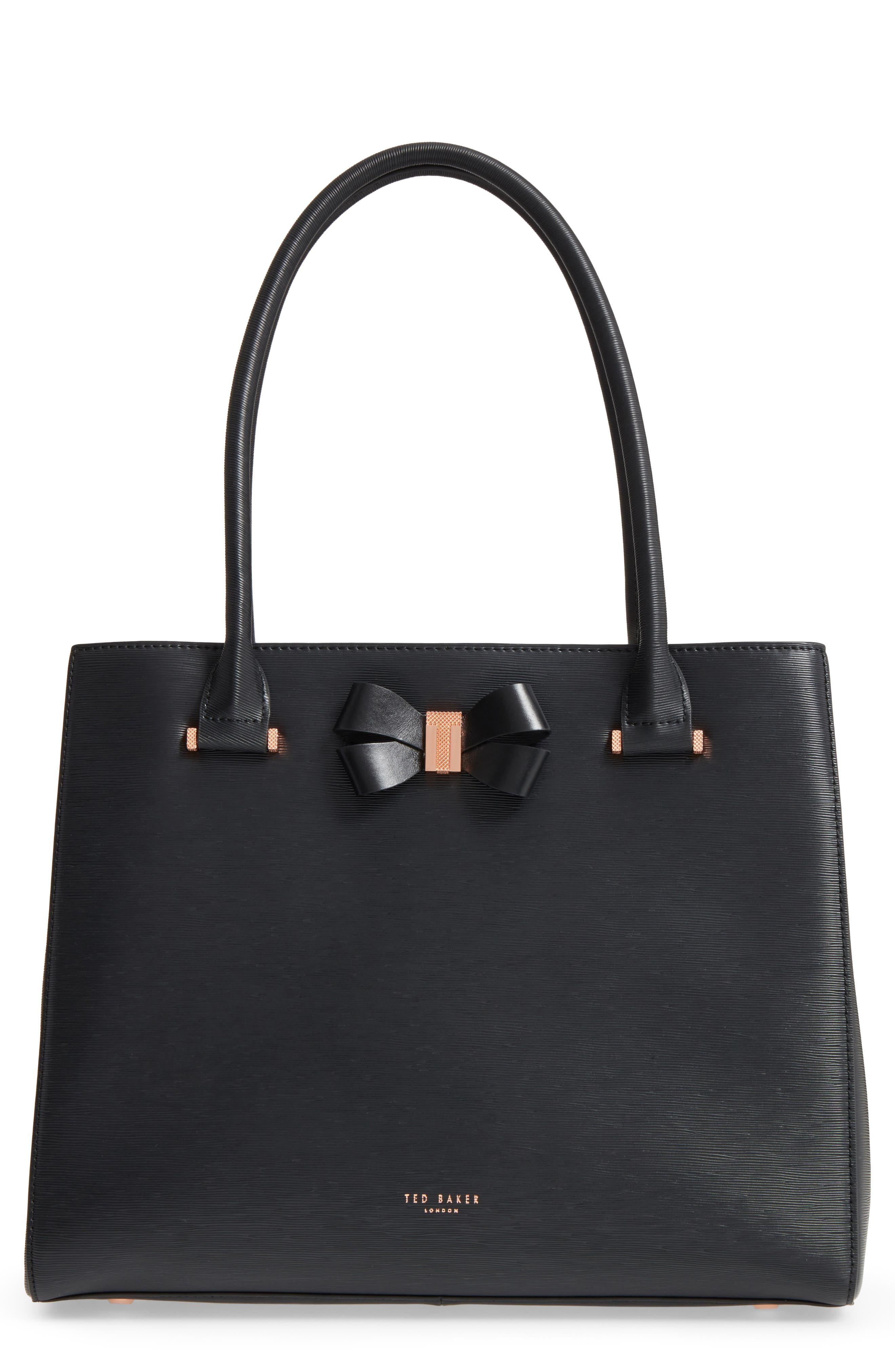 Callaa Leather Shopper,                         Main,                         color, 001