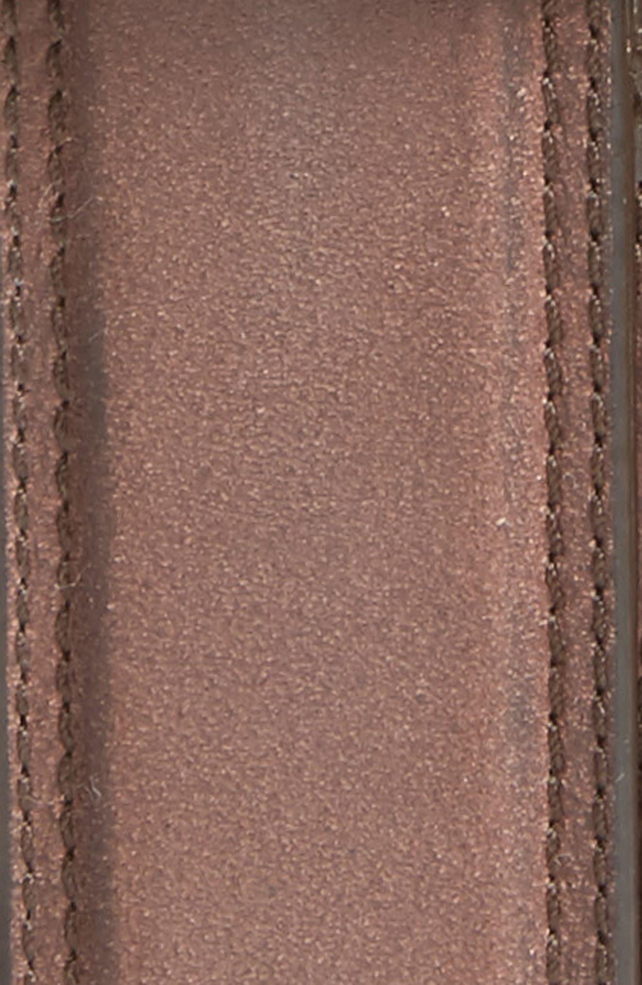 Leather Belt,                             Alternate thumbnail 2, color,                             CHESTNUT