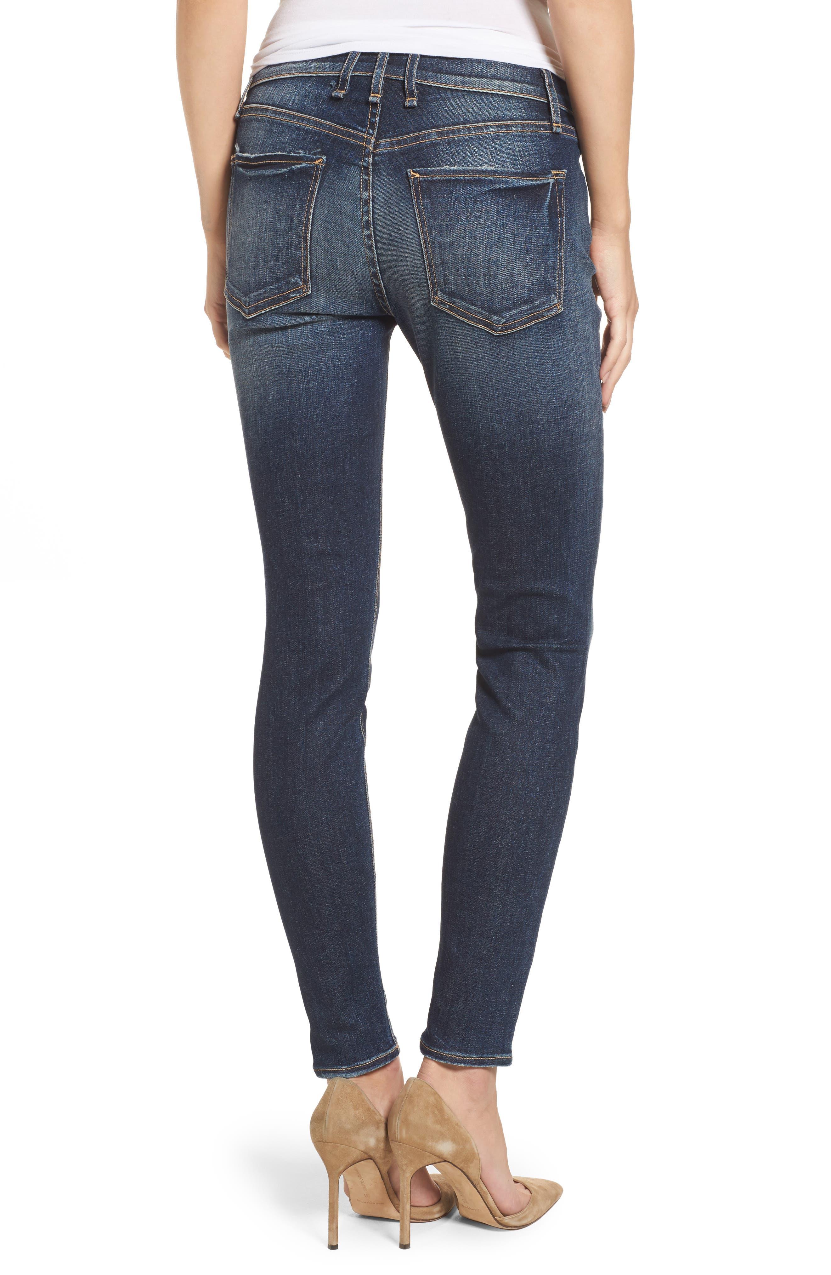 Newton High Waist Skinny Jeans,                             Alternate thumbnail 2, color,                             420