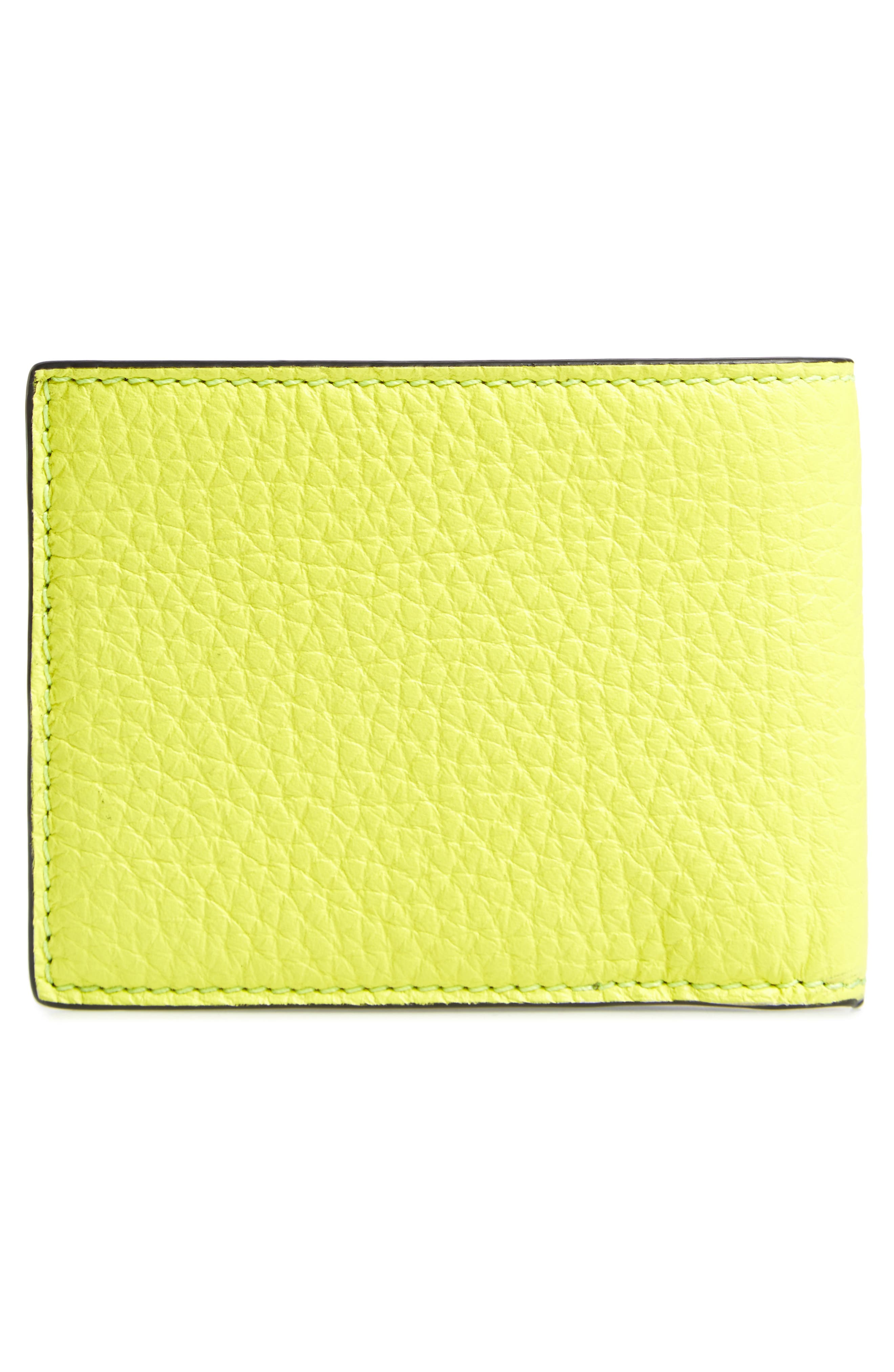 Leather Bifold Wallet,                             Alternate thumbnail 6, color,