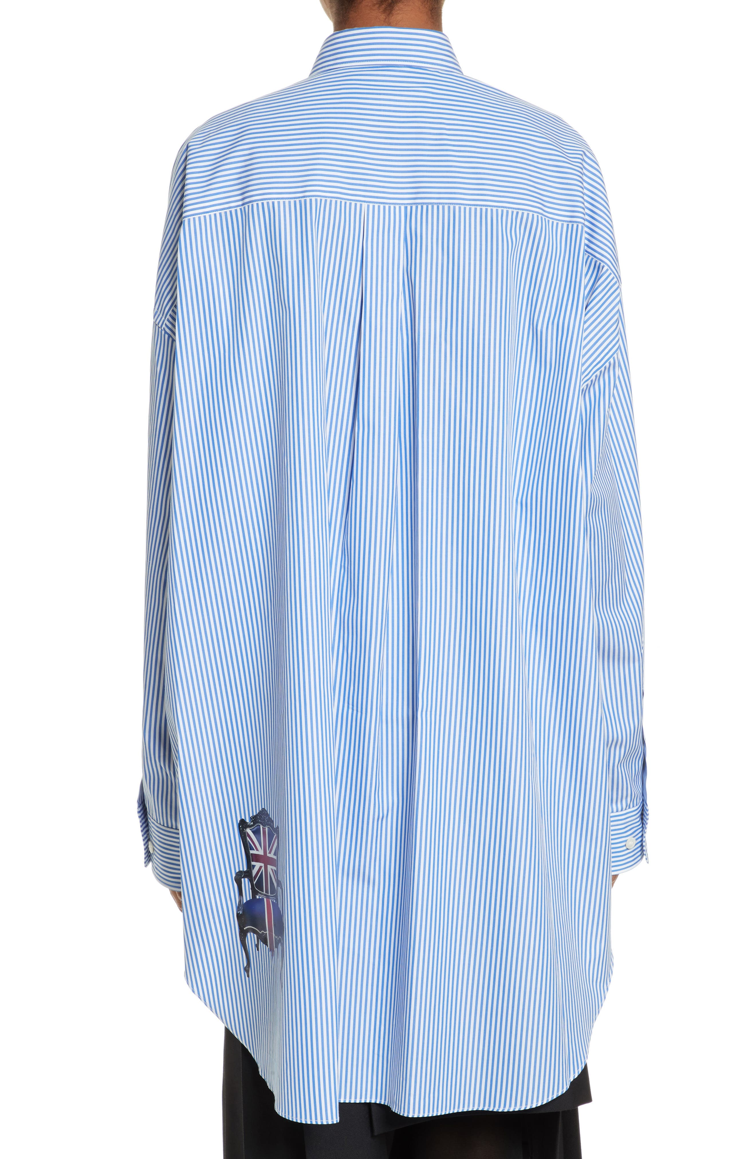 Oversize Button Down Shirt,                             Alternate thumbnail 2, color,