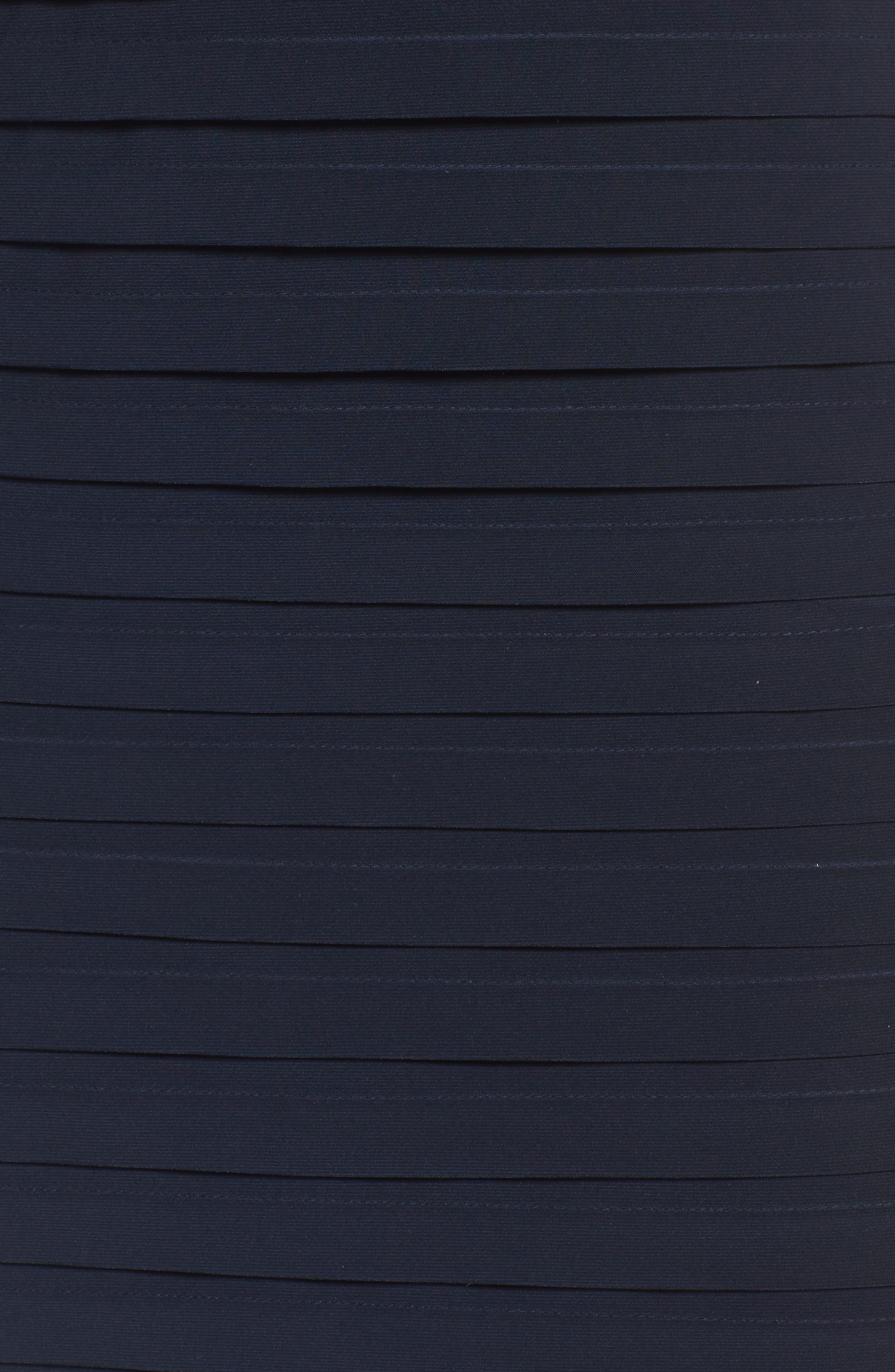 Pleat Sheath Dress,                             Alternate thumbnail 5, color,