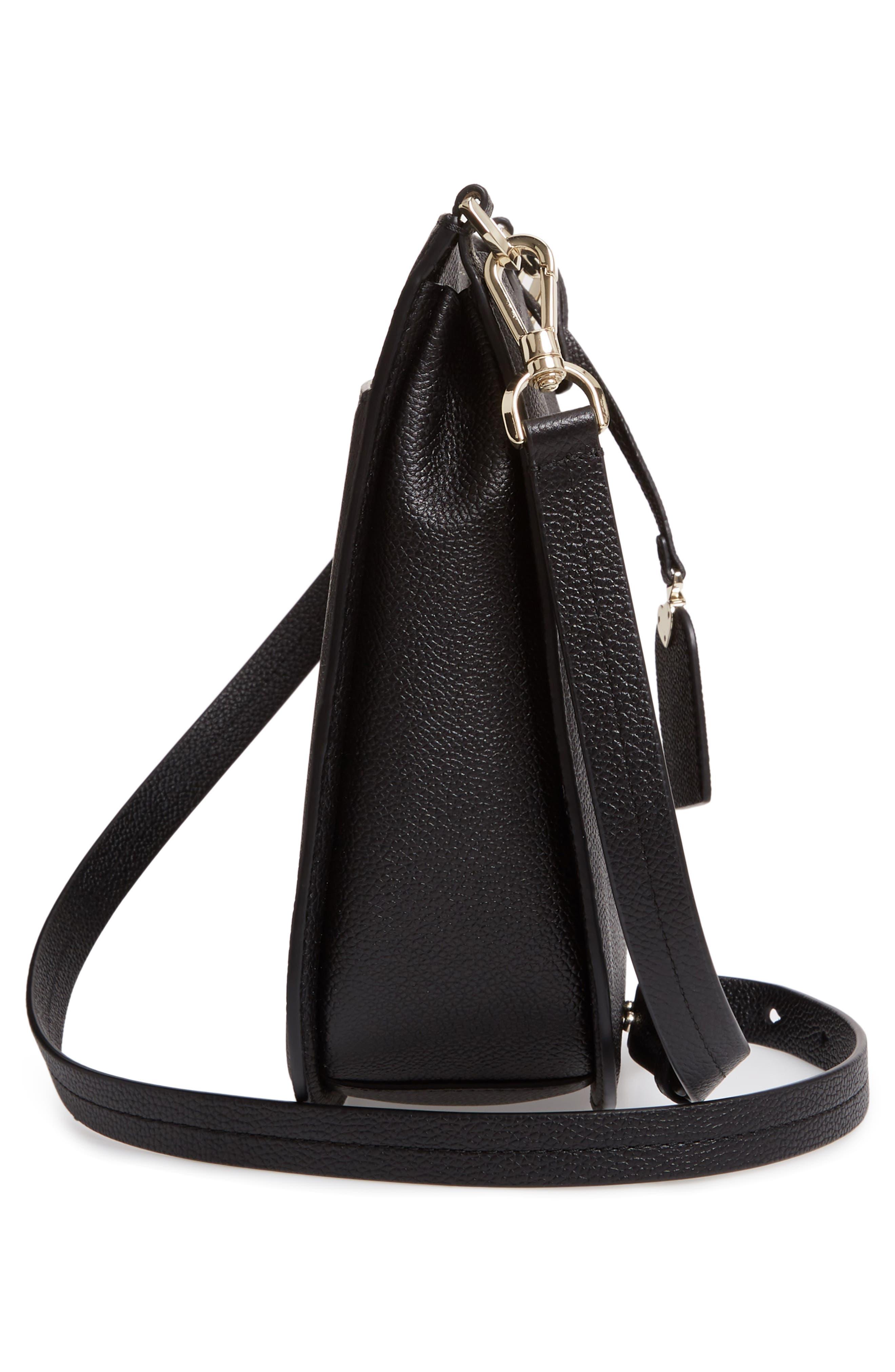 KATE SPADE NEW YORK,                             margaux large crossbody bag,                             Alternate thumbnail 5, color,                             BLACK