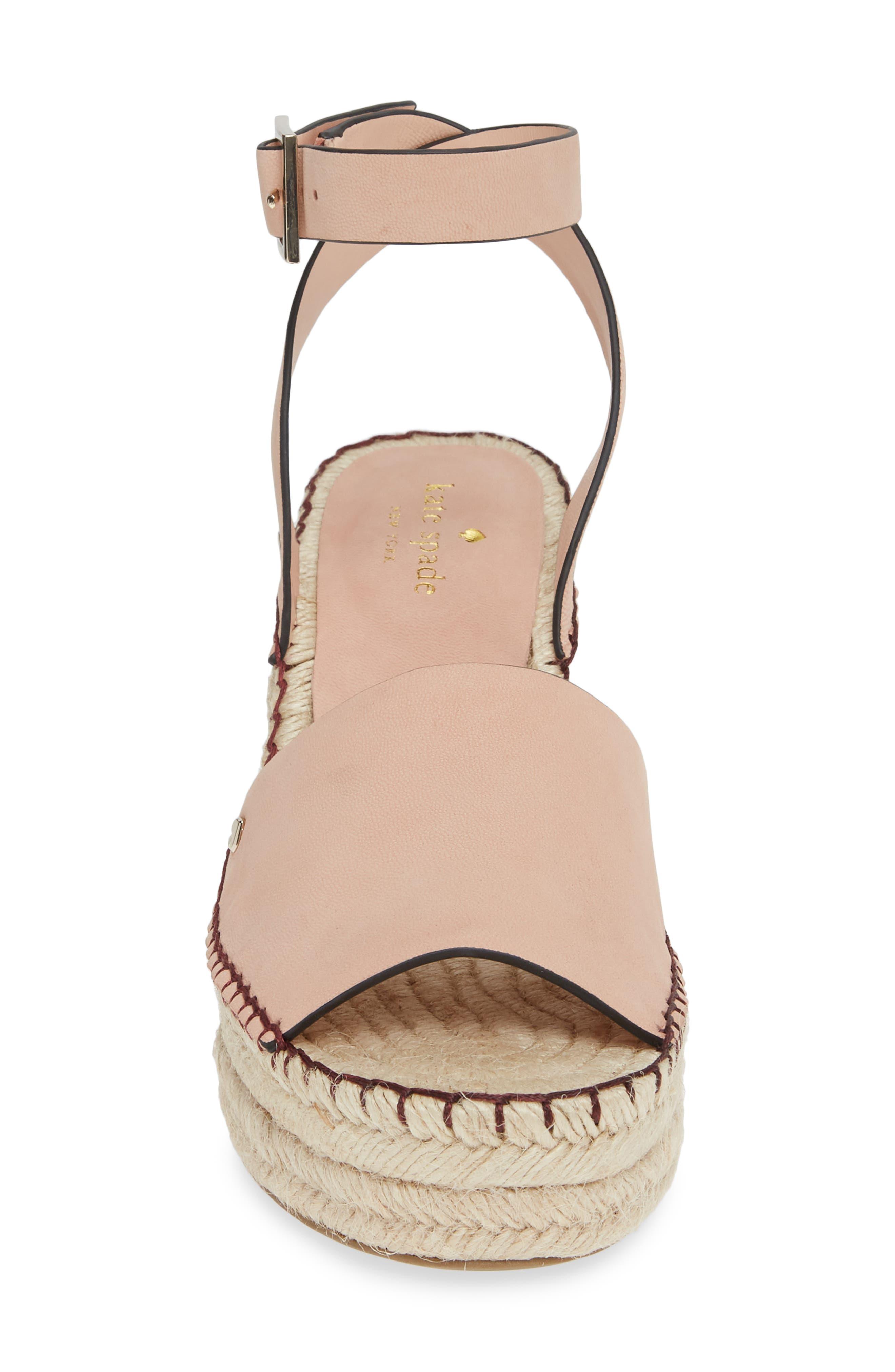 felipa wedge sandal,                             Alternate thumbnail 4, color,                             CONCH SHELL NUBUK