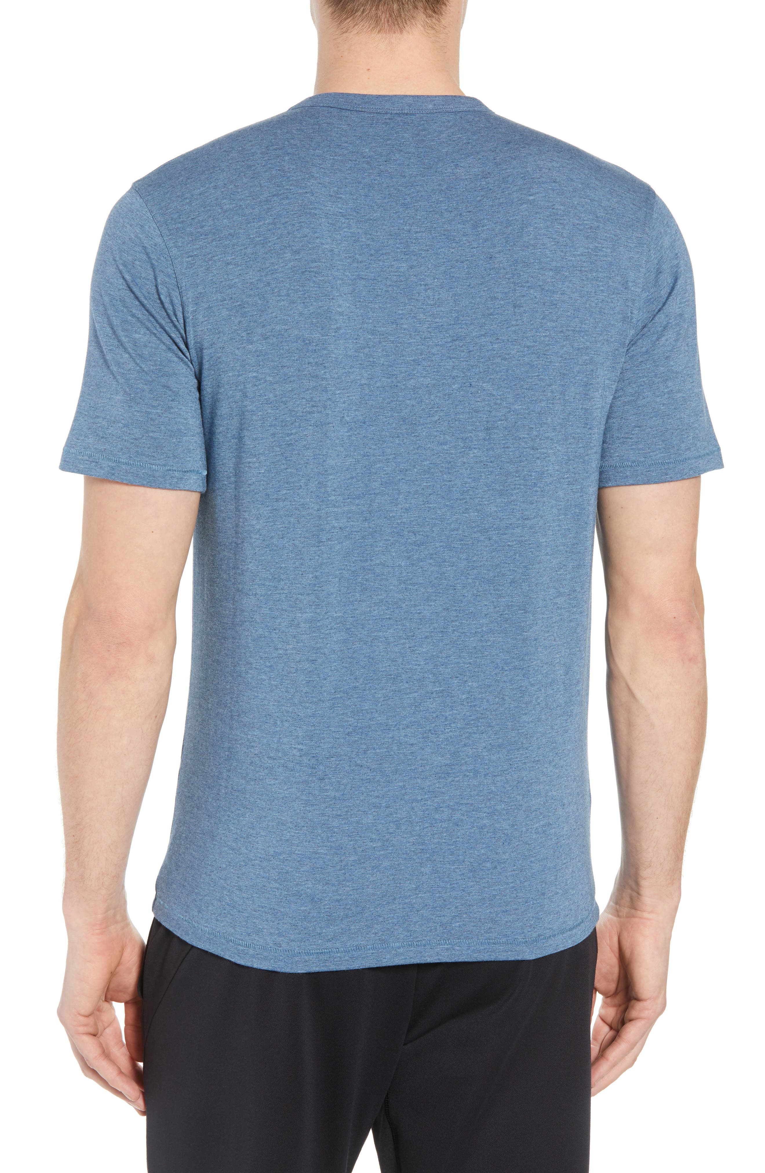 Nantucket Fitted T-Shirt,                             Alternate thumbnail 2, color,                             INDIGO HEATHER