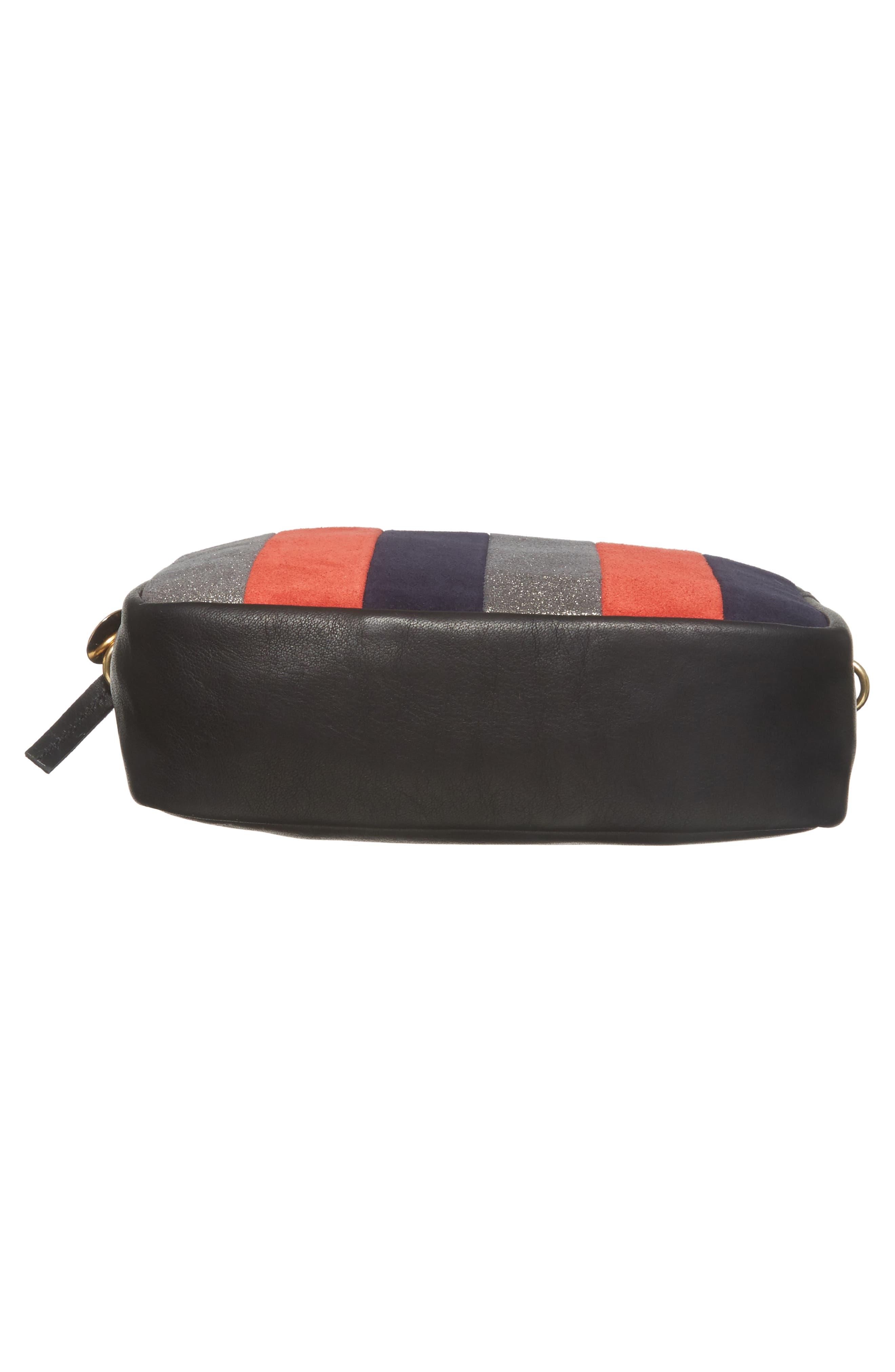 Midi Sac Stripe Leather Crossbody Bag,                             Alternate thumbnail 6, color,                             610
