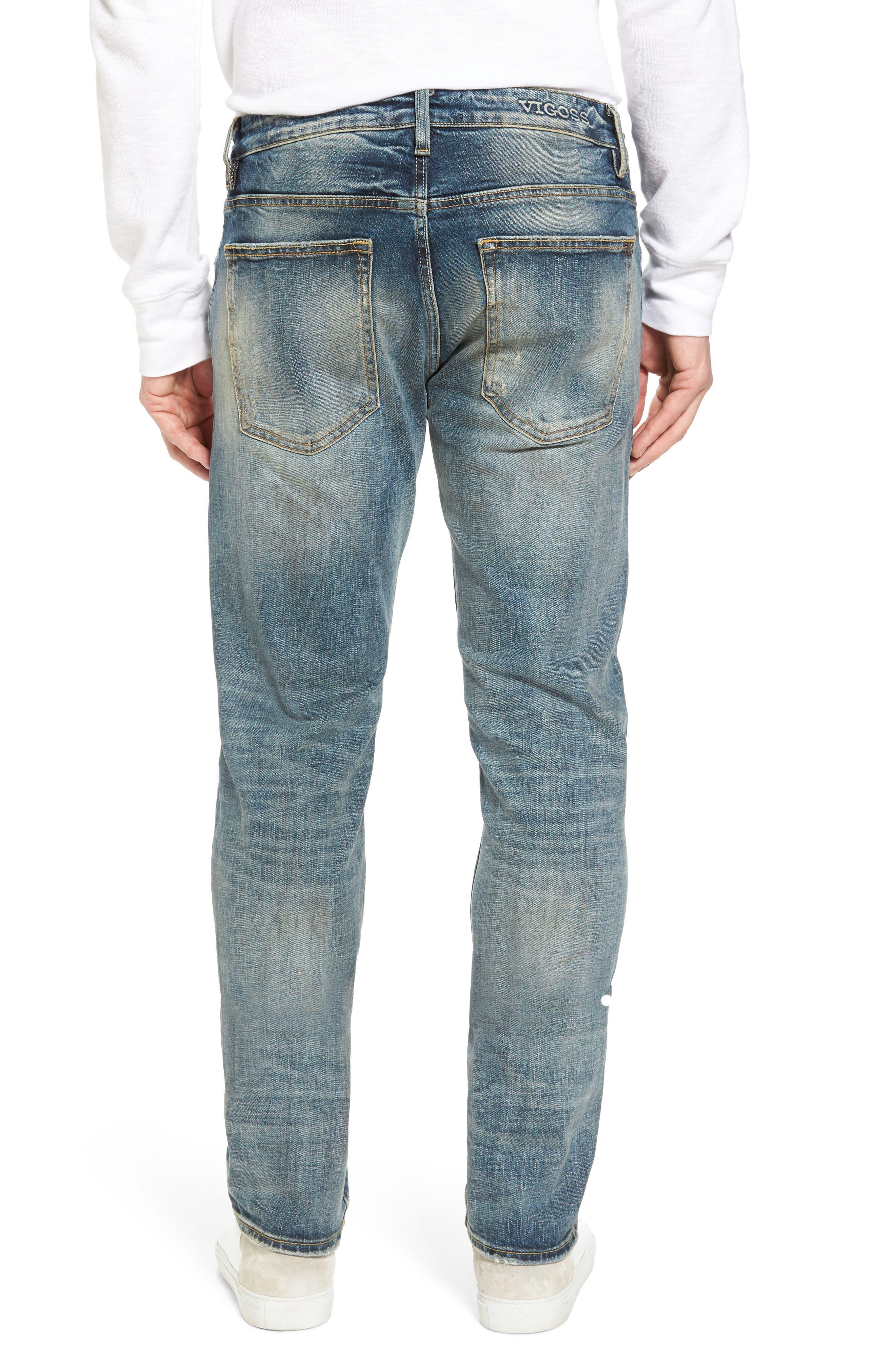 Slim Straight Leg Jeans,                             Alternate thumbnail 2, color,                             TINT LIGHT
