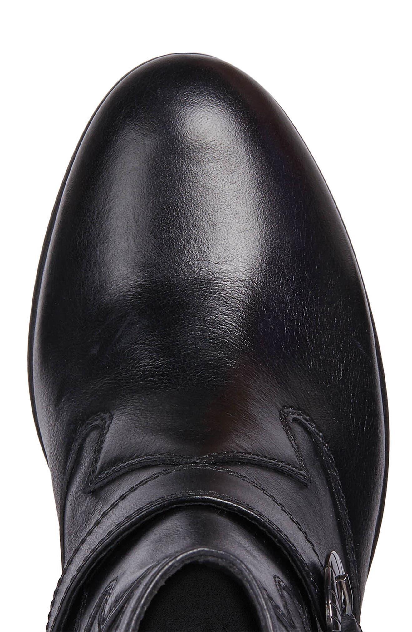 Lucinda Bootie,                             Alternate thumbnail 6, color,                             BLACK LEATHER