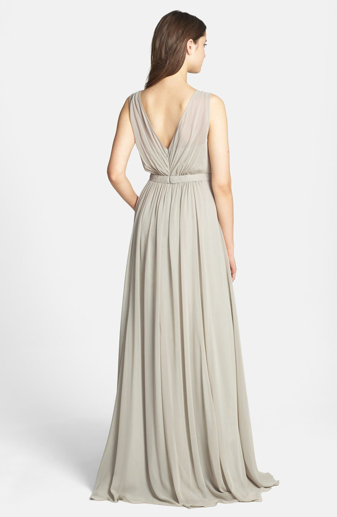 Vivienne Pleated Chiffon Gown,                             Alternate thumbnail 20, color,