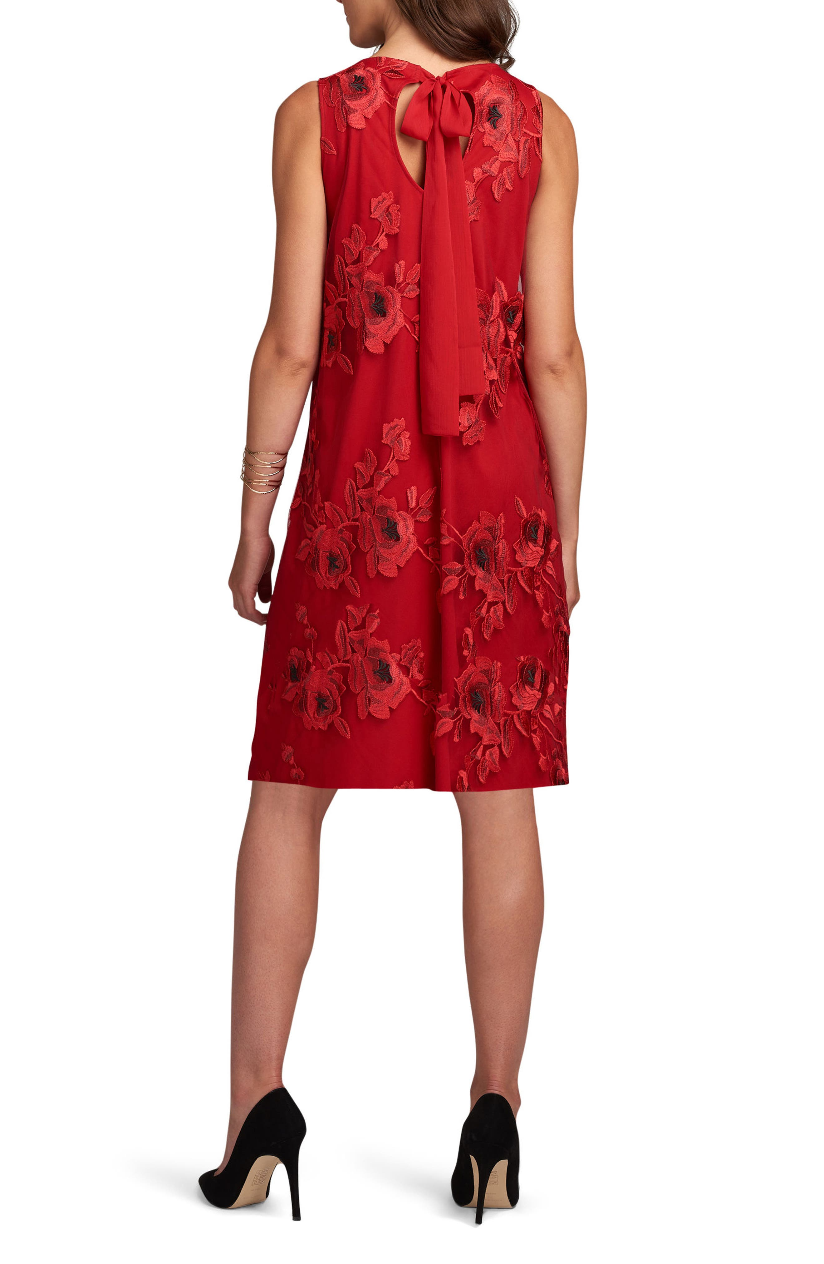 Embroidered Shift Dress,                             Alternate thumbnail 2, color,                             620