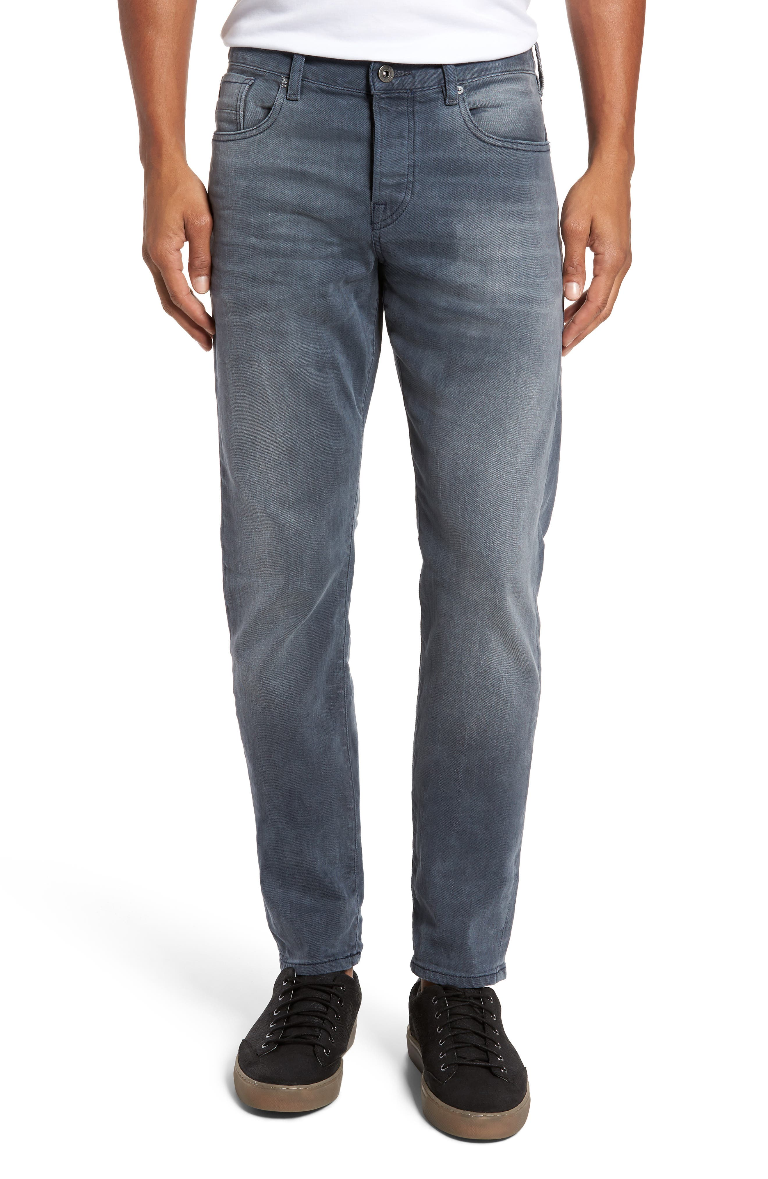 Ralston Slim Straight Leg Jeans,                             Main thumbnail 1, color,                             CONCRETE BLEACH