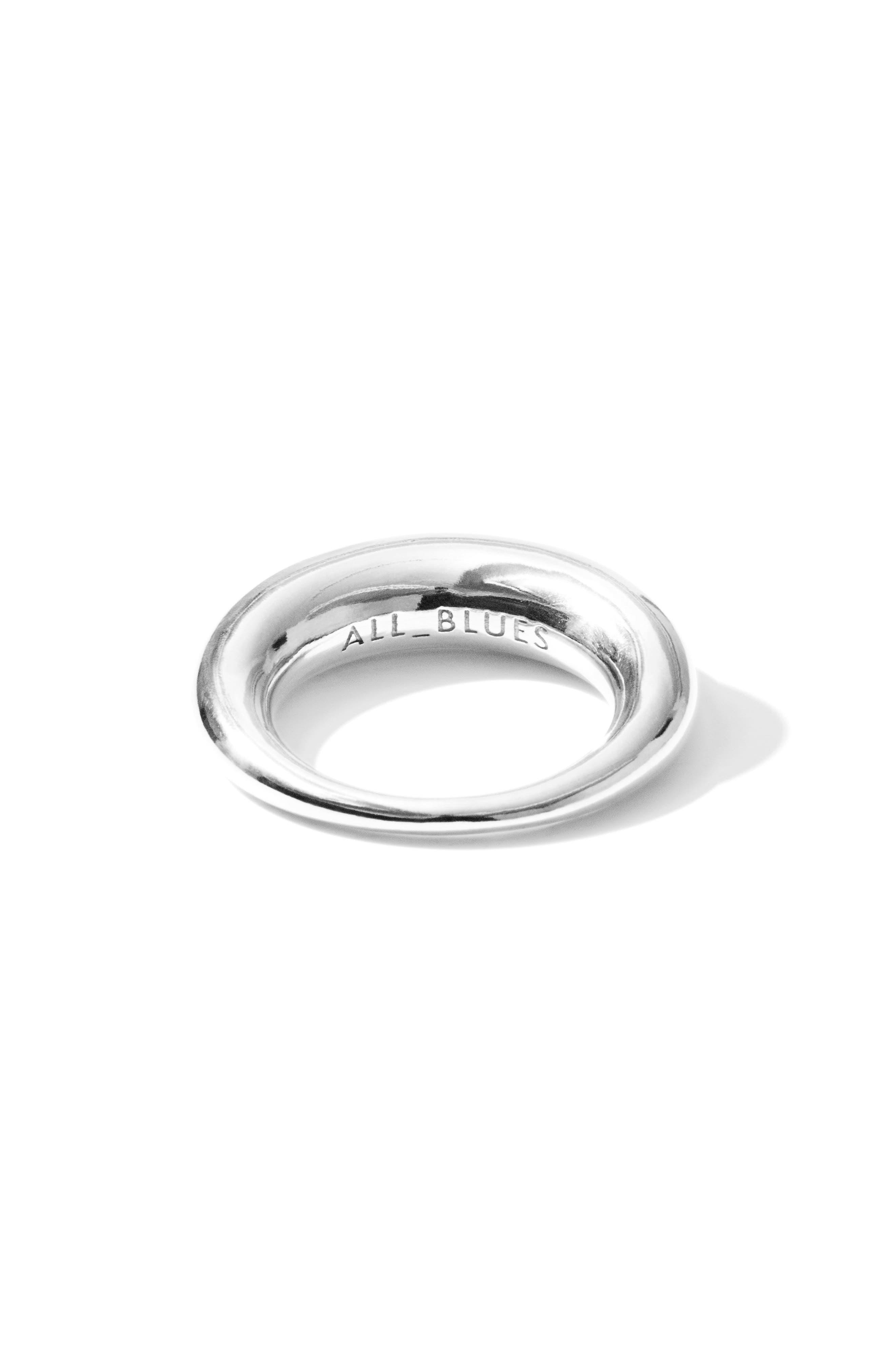 Large Snake Polished Silver Ring,                             Alternate thumbnail 3, color,                             POLISHED SILVER