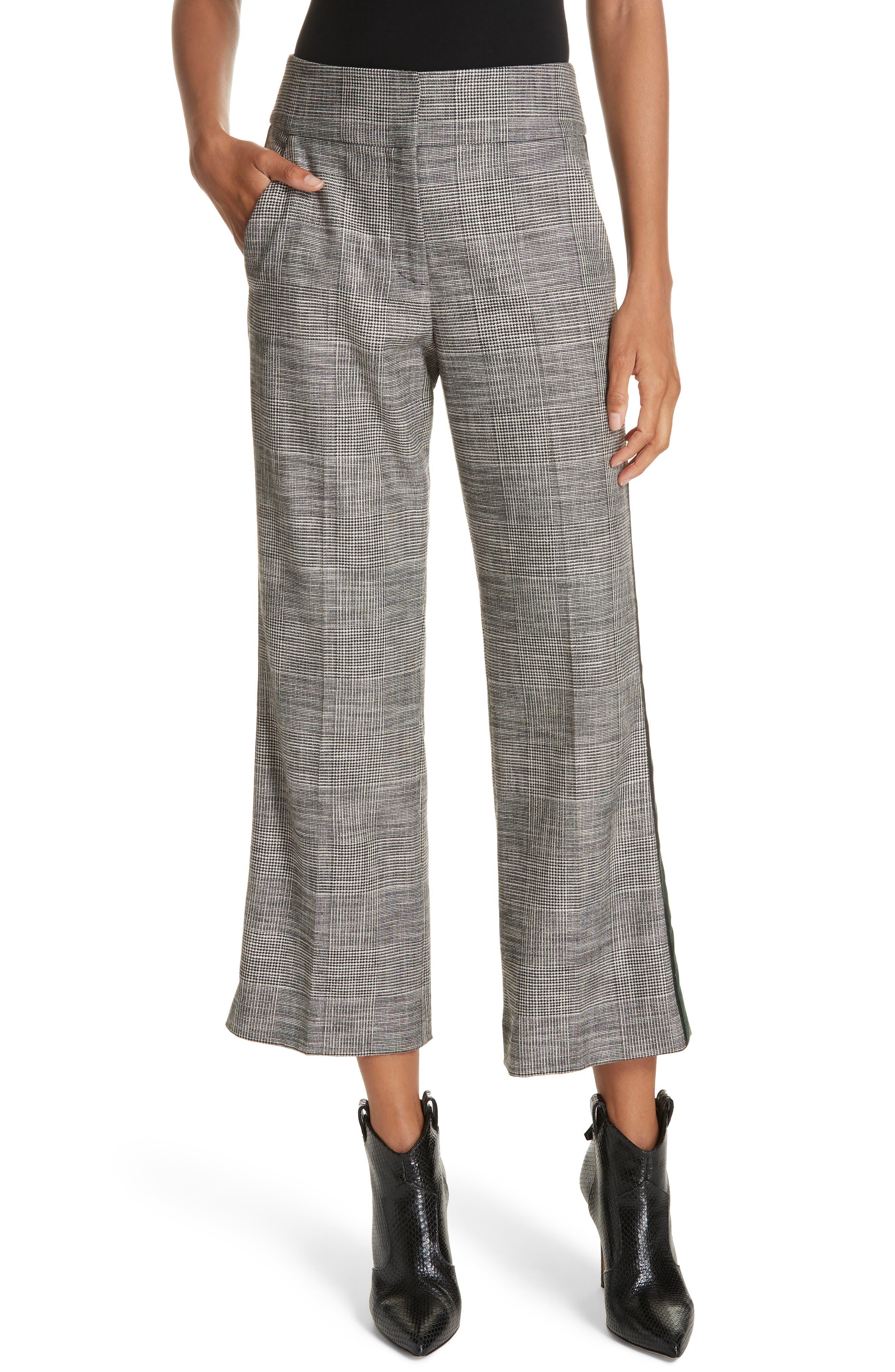 Cormac Side Stripe Check Trousers,                             Main thumbnail 1, color,                             020