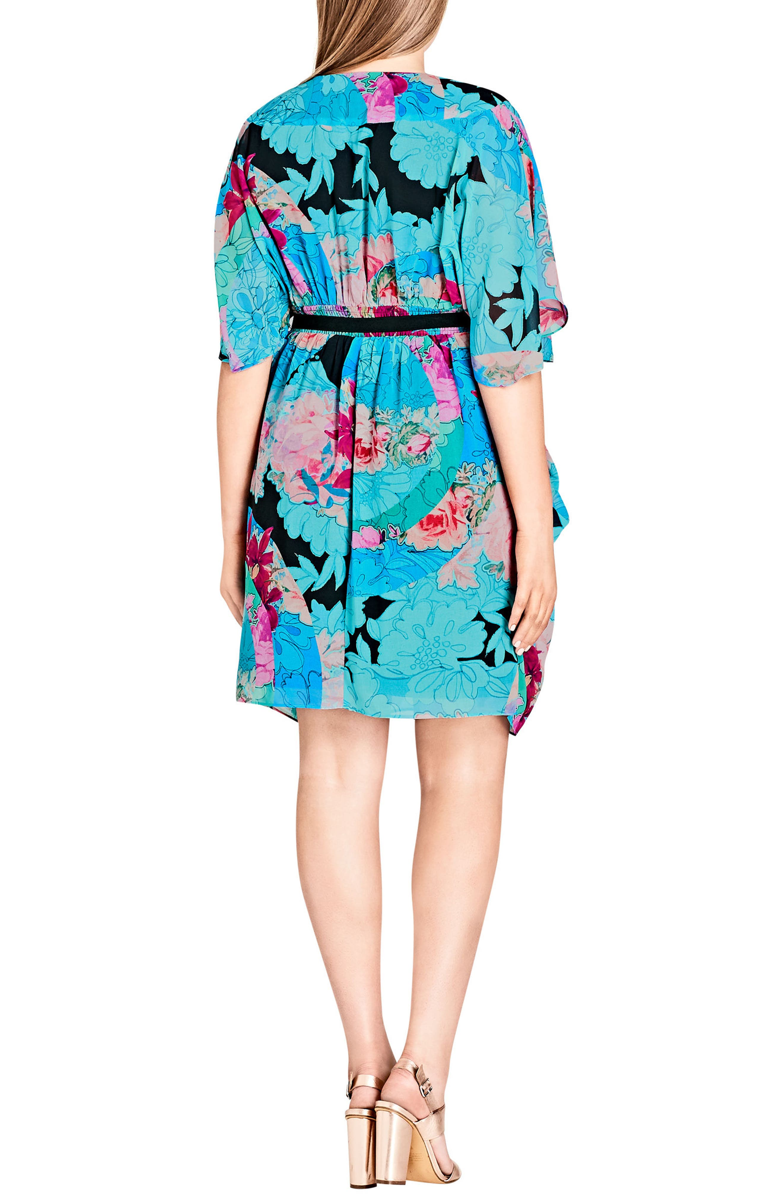 Graphic Wrap Dress,                             Alternate thumbnail 2, color,                             LOOKING GLASS