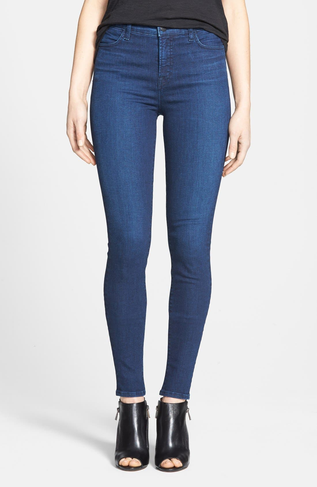 J BRAND 'Maria' High Rise Skinny Jeans, Main, color, 400