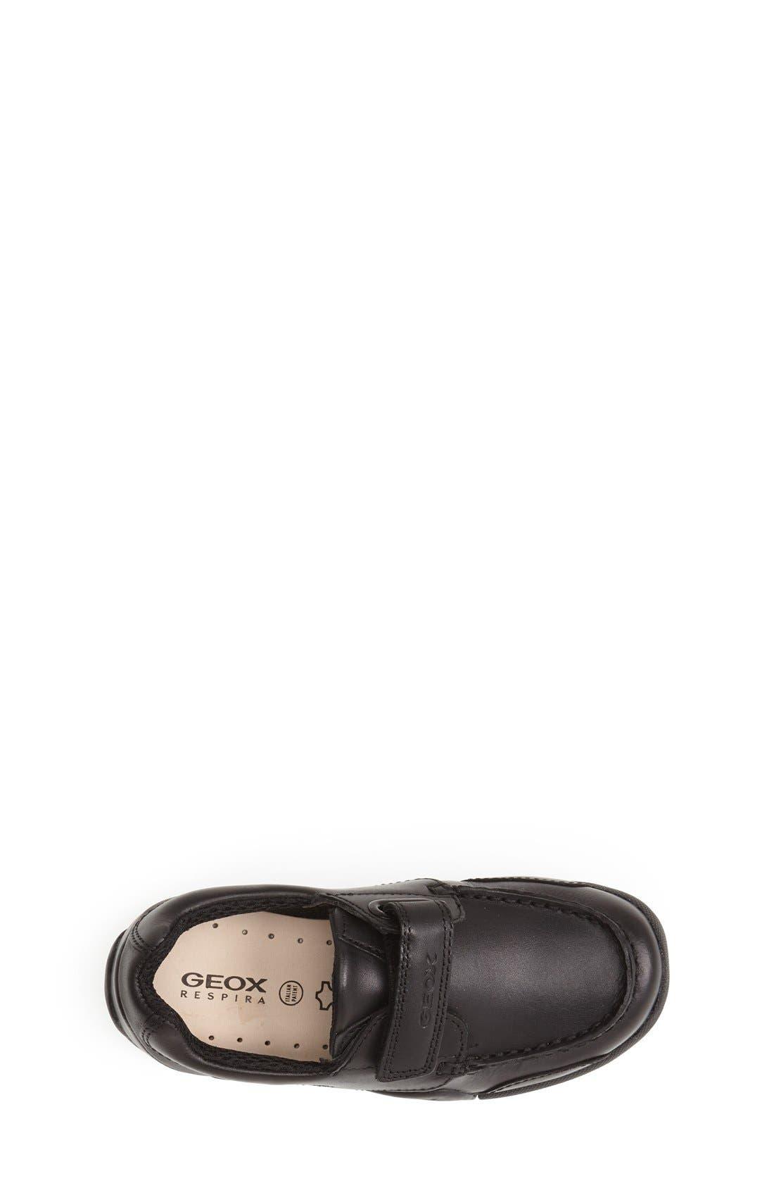 'Snake Moc 2' Leather Loafer,                             Alternate thumbnail 2, color,                             BLACK