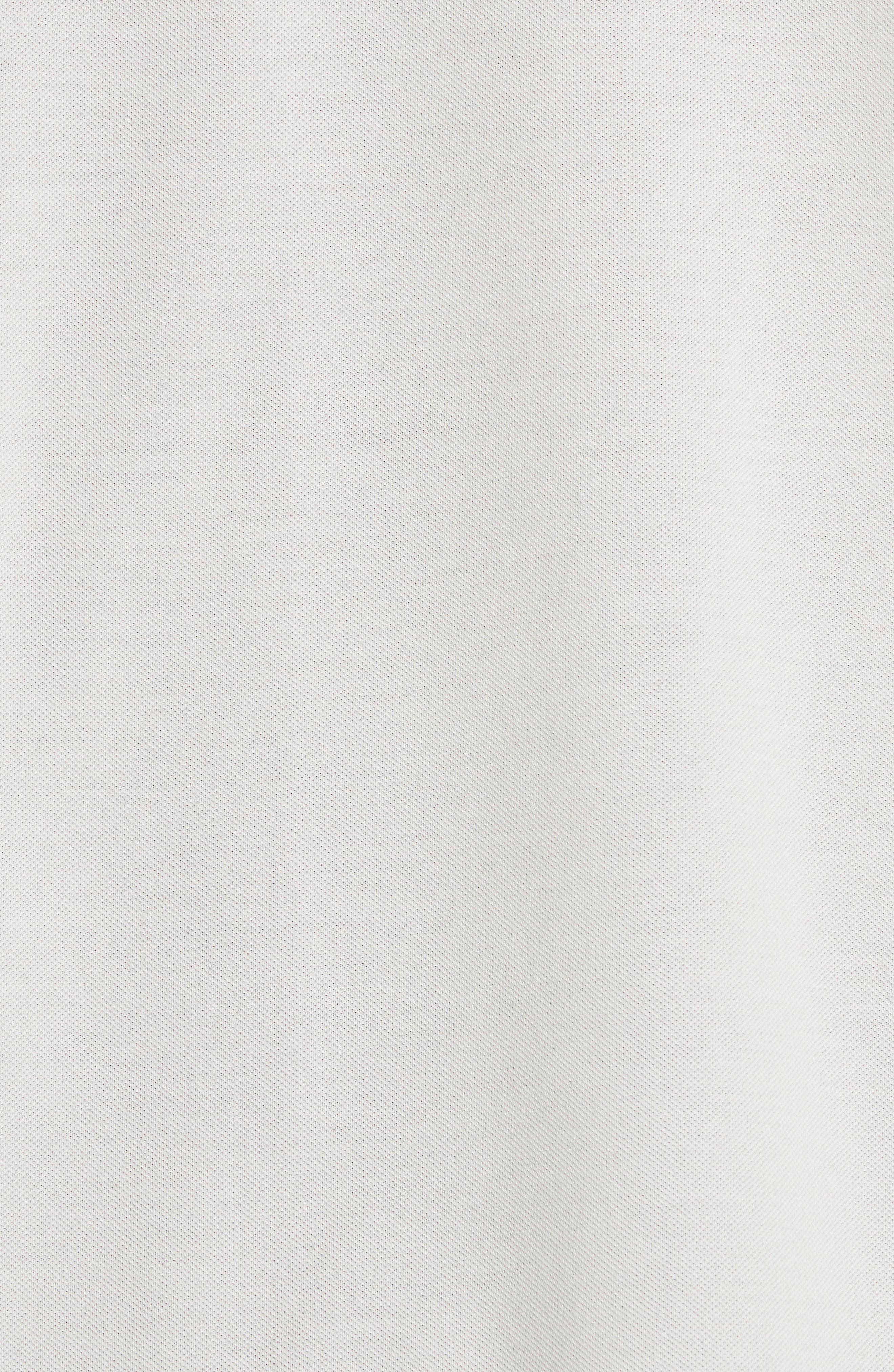 Stripe Placket Piqué Polo,                             Alternate thumbnail 5, color,                             100