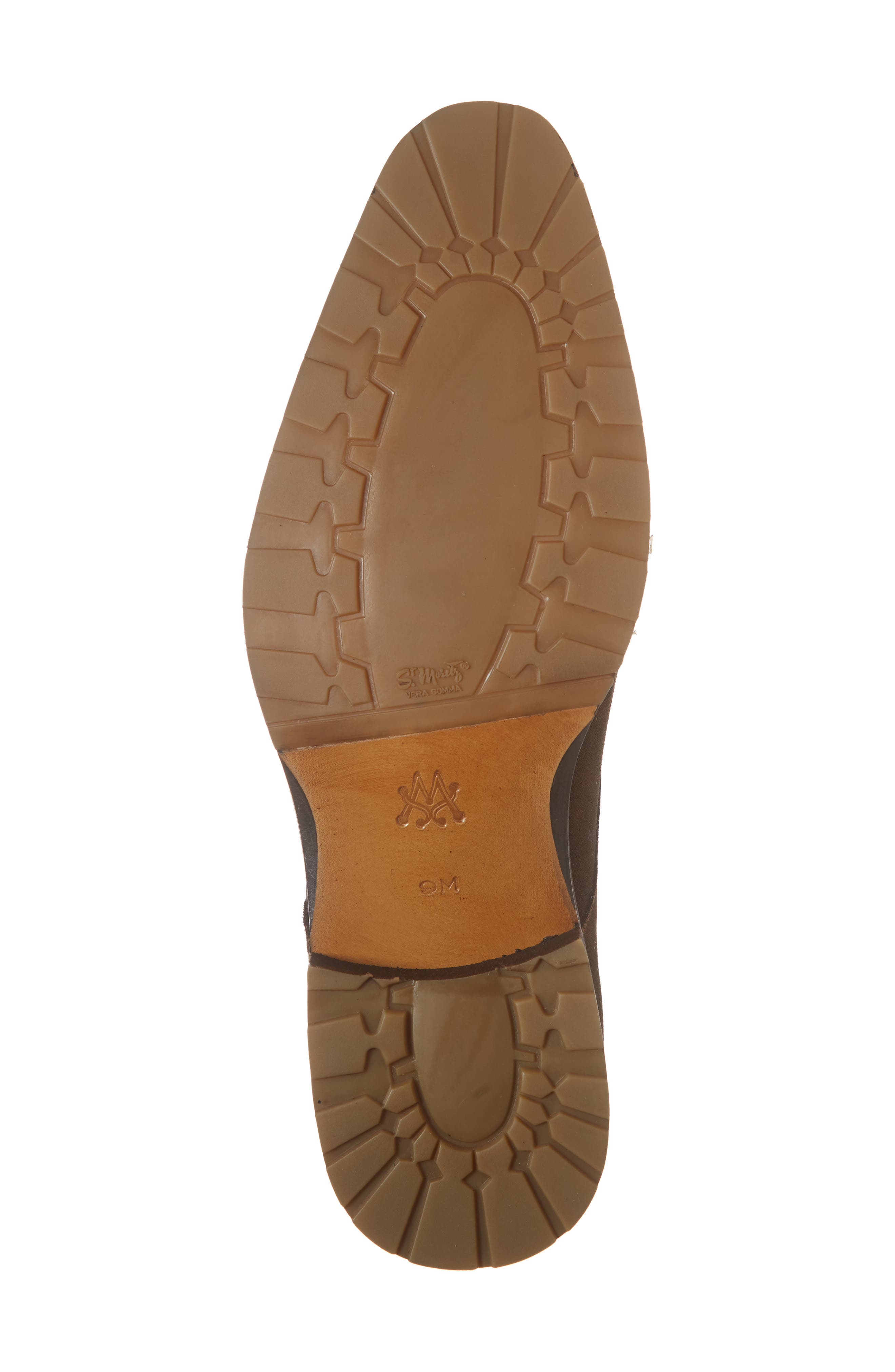 Miguel Double Monk Strap Shoe,                             Alternate thumbnail 6, color,                             TAN SUEDE