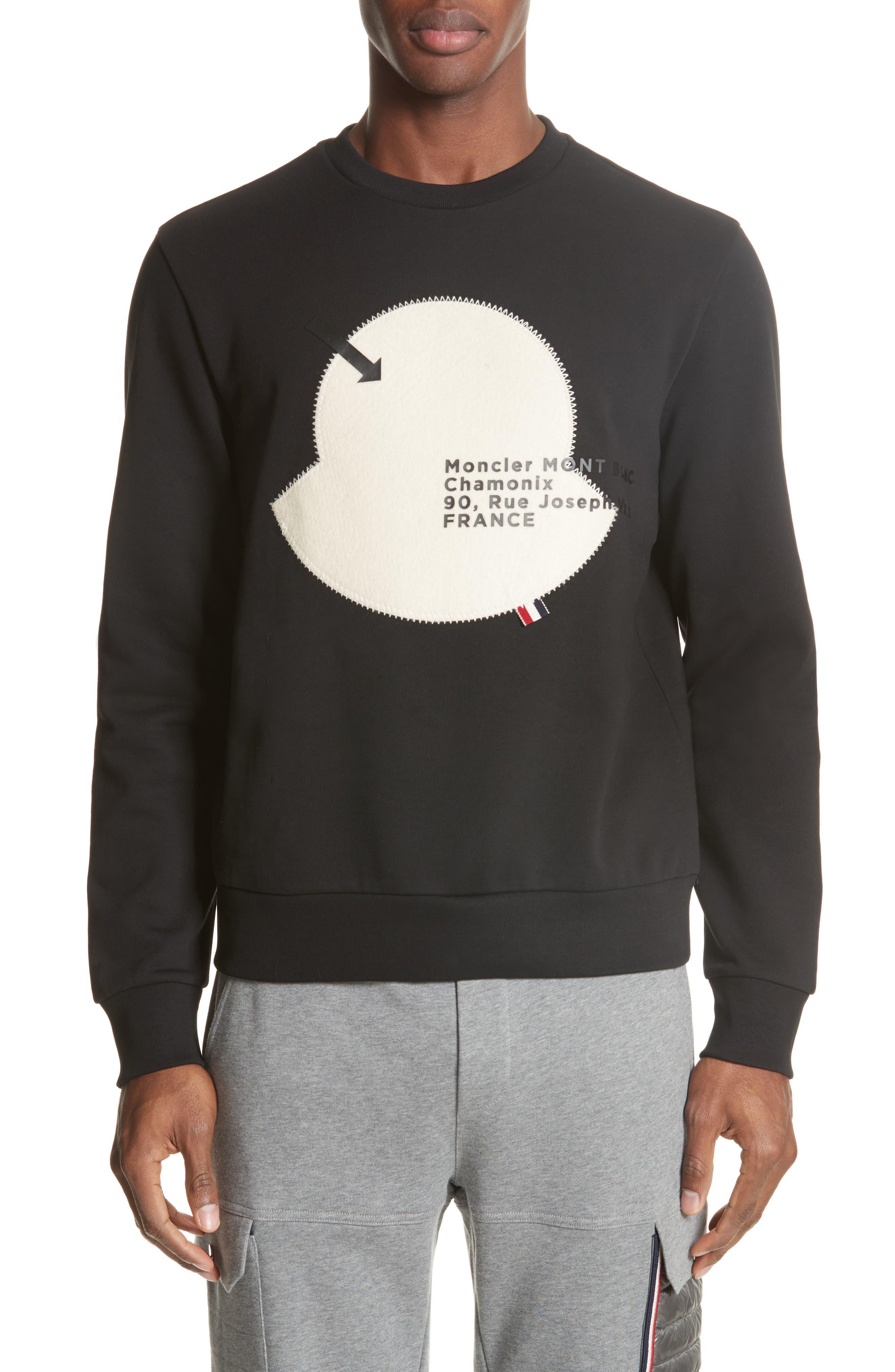 Maglia Big Bell Crewneck Sweatshirt, Main, color, BLACK