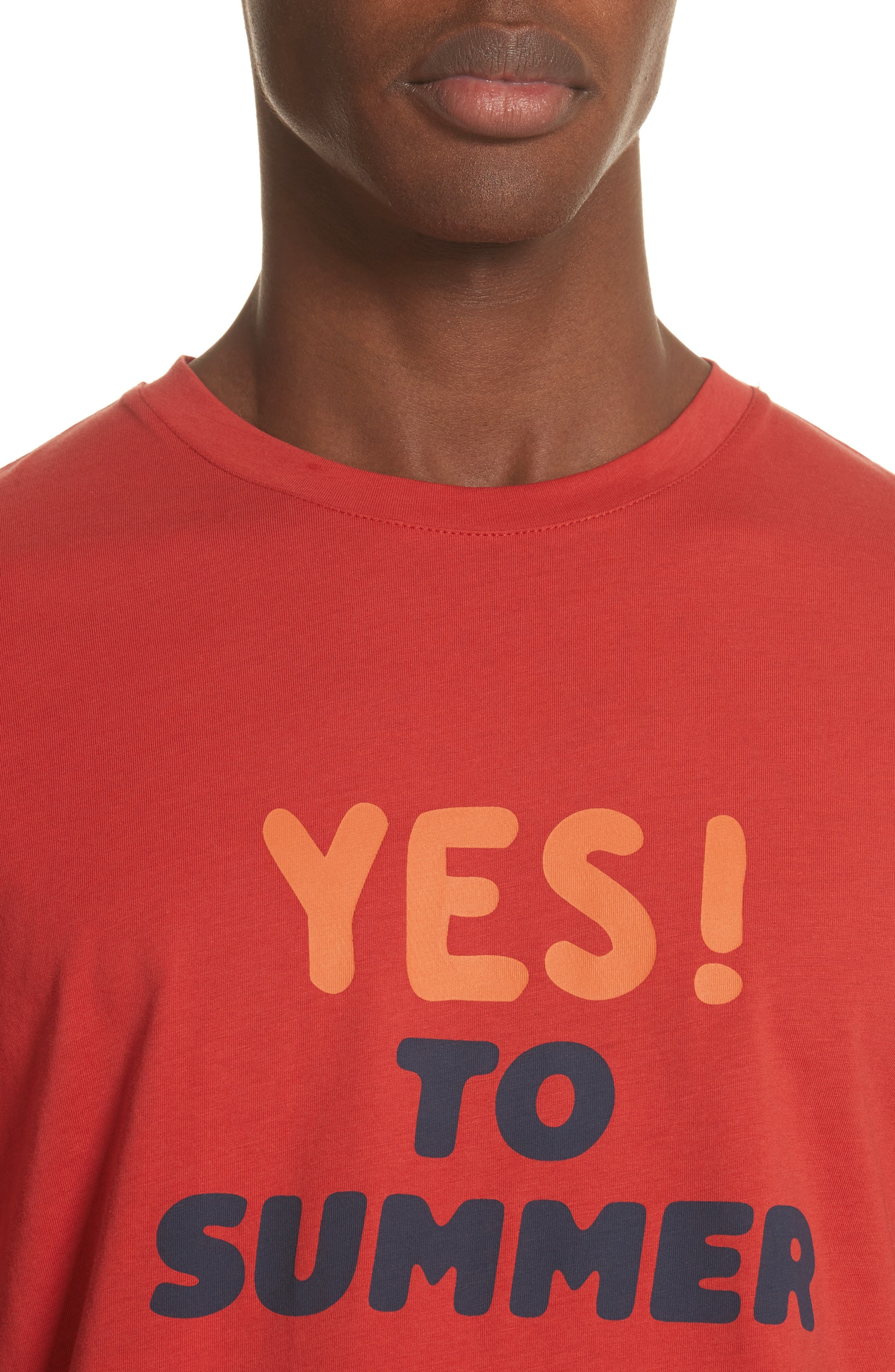 Yes! To Summer Graphic T-Shirt,                             Alternate thumbnail 4, color,                             ROUGE
