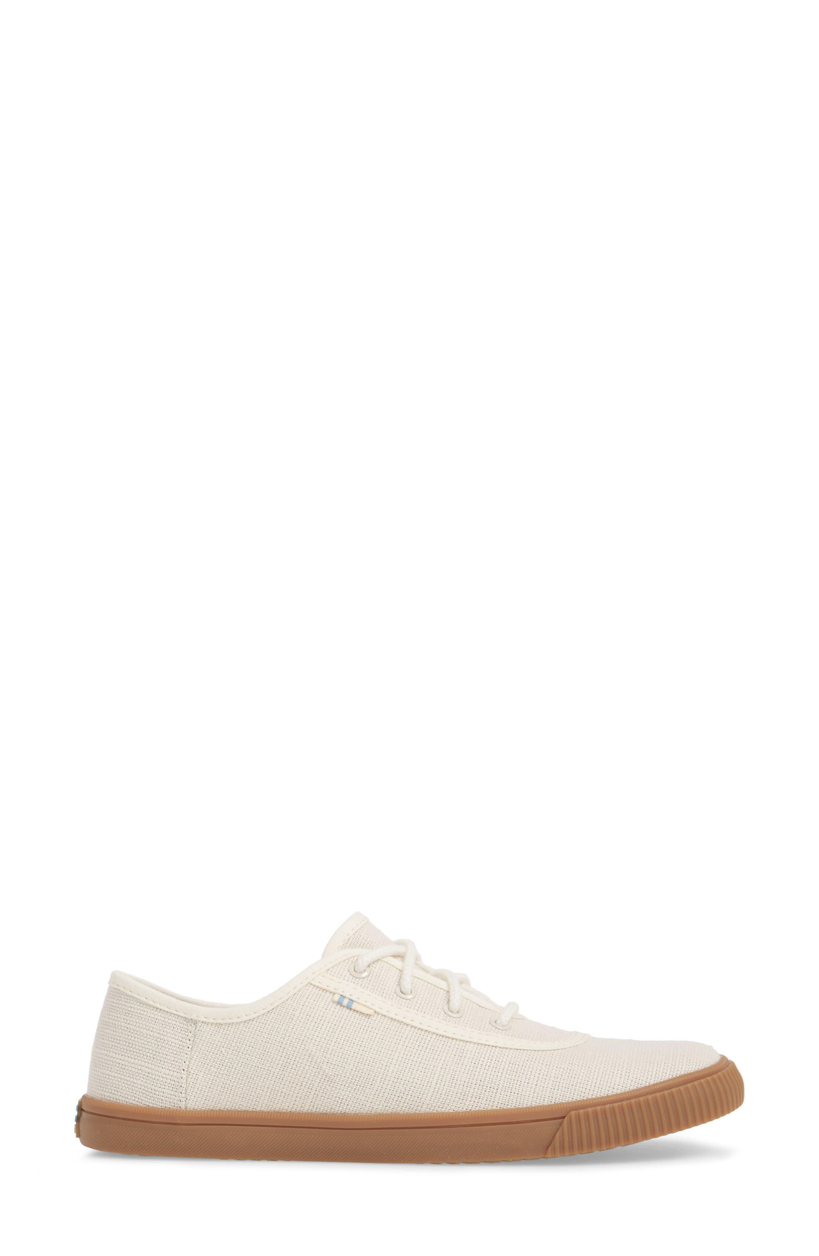 Carmel Sneaker,                             Alternate thumbnail 3, color,                             BIRCH HERITAGE CANVAS