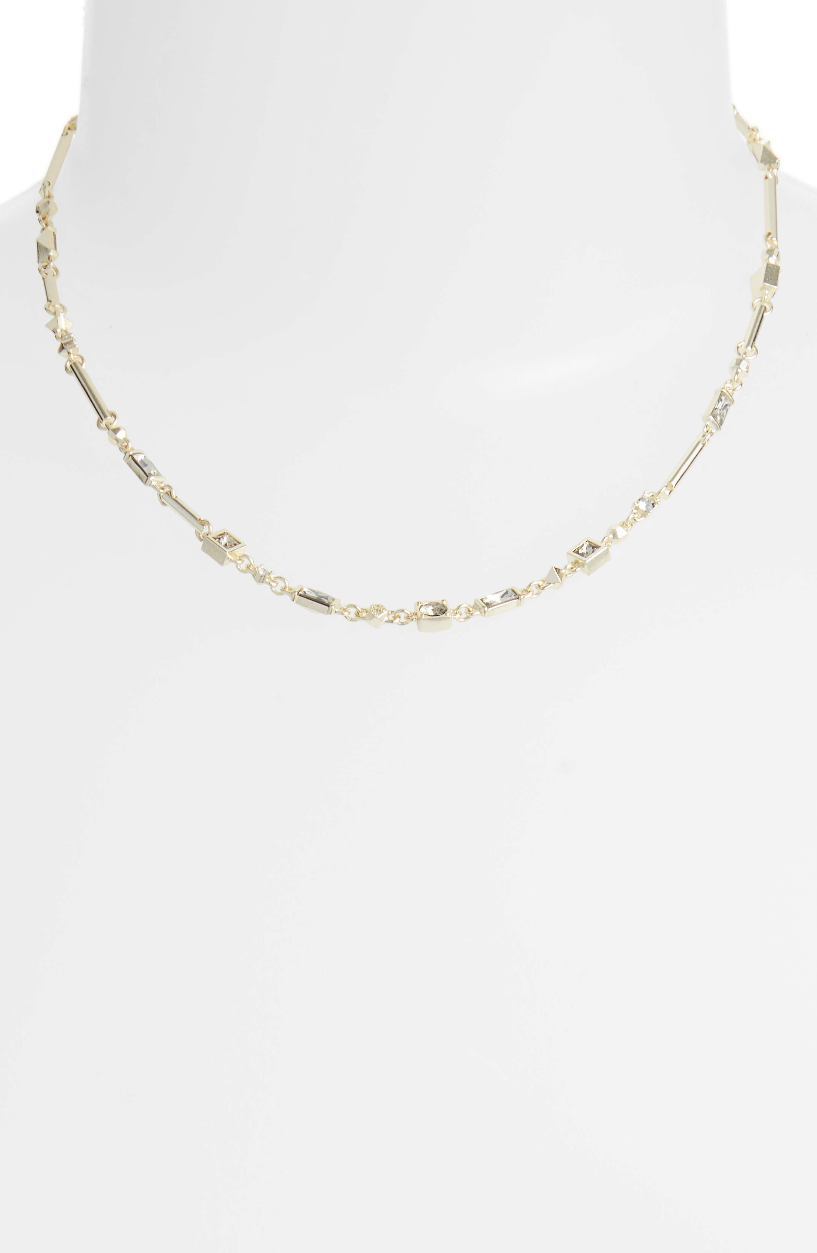 Rhett Collar Necklace,                             Alternate thumbnail 2, color,                             SMOKY MIX/ GOLD