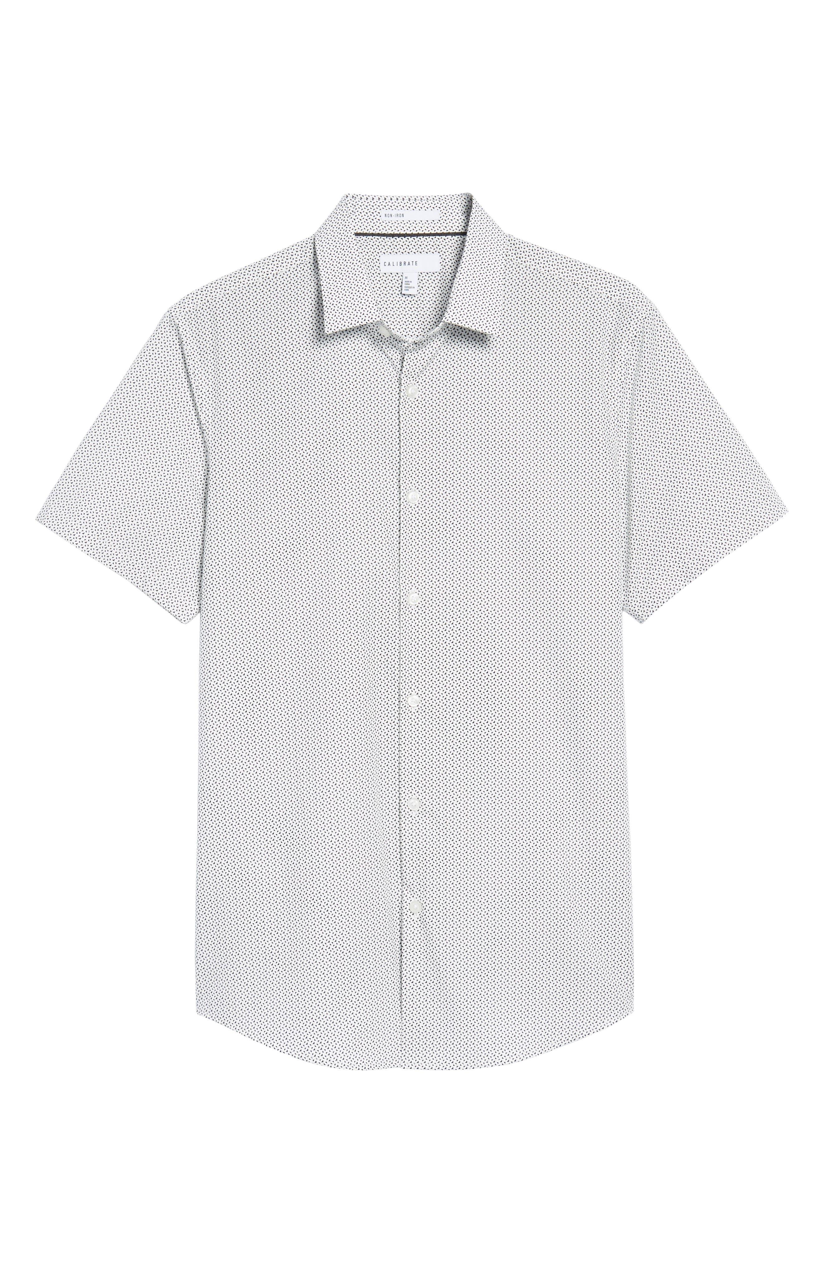 Trim Fit Geometric Sport Shirt,                             Alternate thumbnail 6, color,                             410