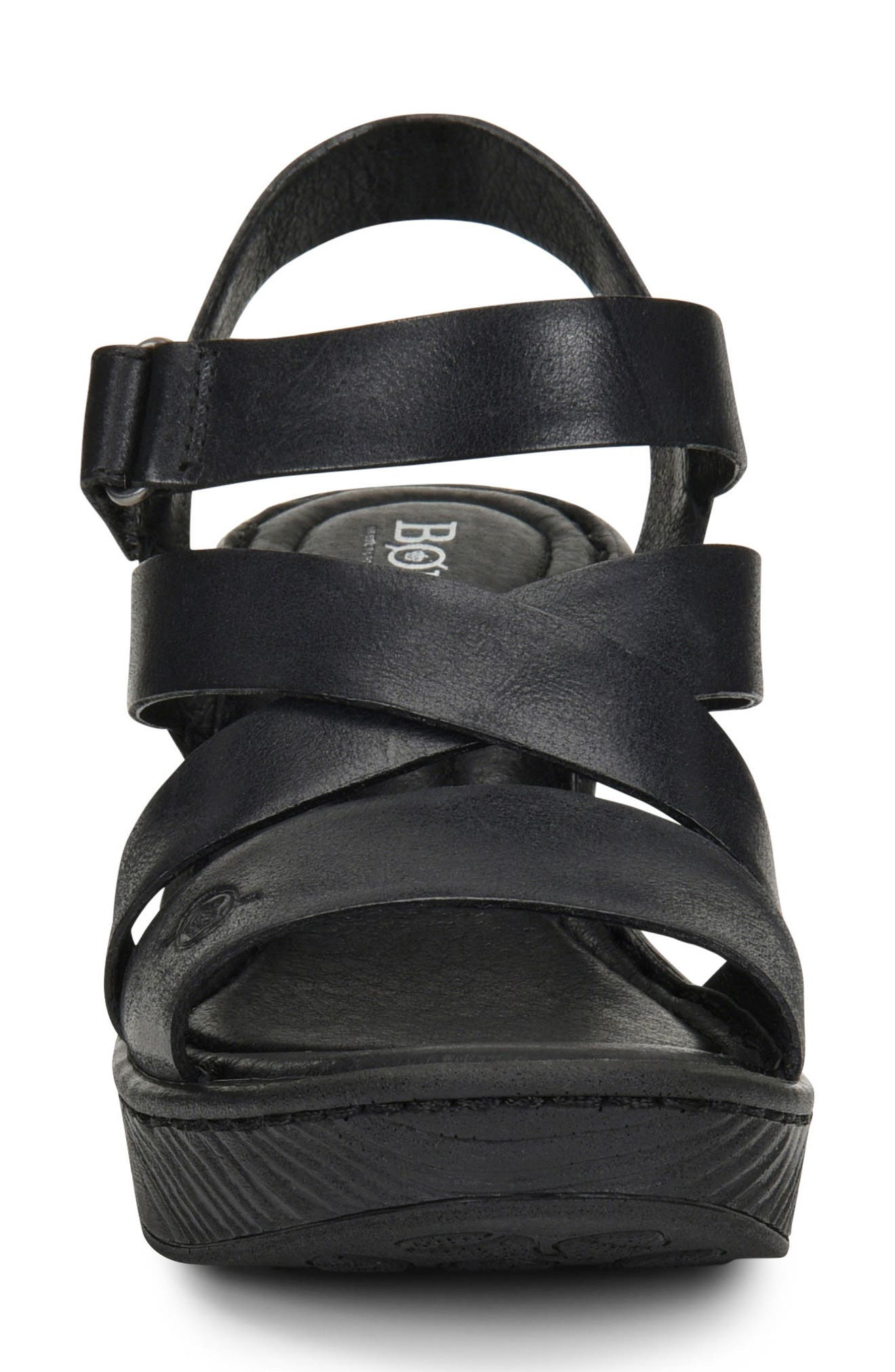 Cubera Platform Sandal,                             Alternate thumbnail 4, color,                             001