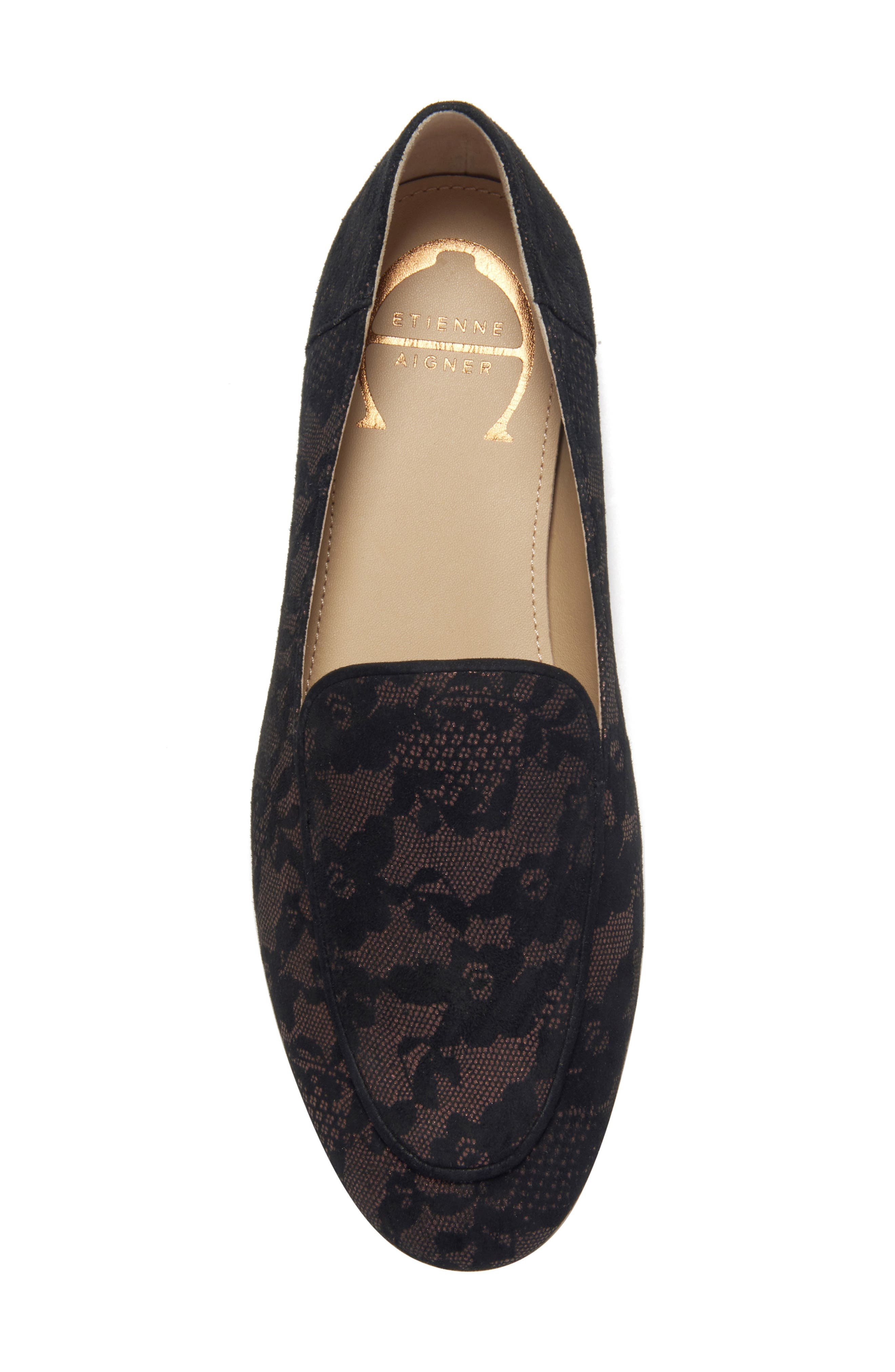 Camille Loafer,                             Alternate thumbnail 3, color,                             DARK BROWN SUEDE