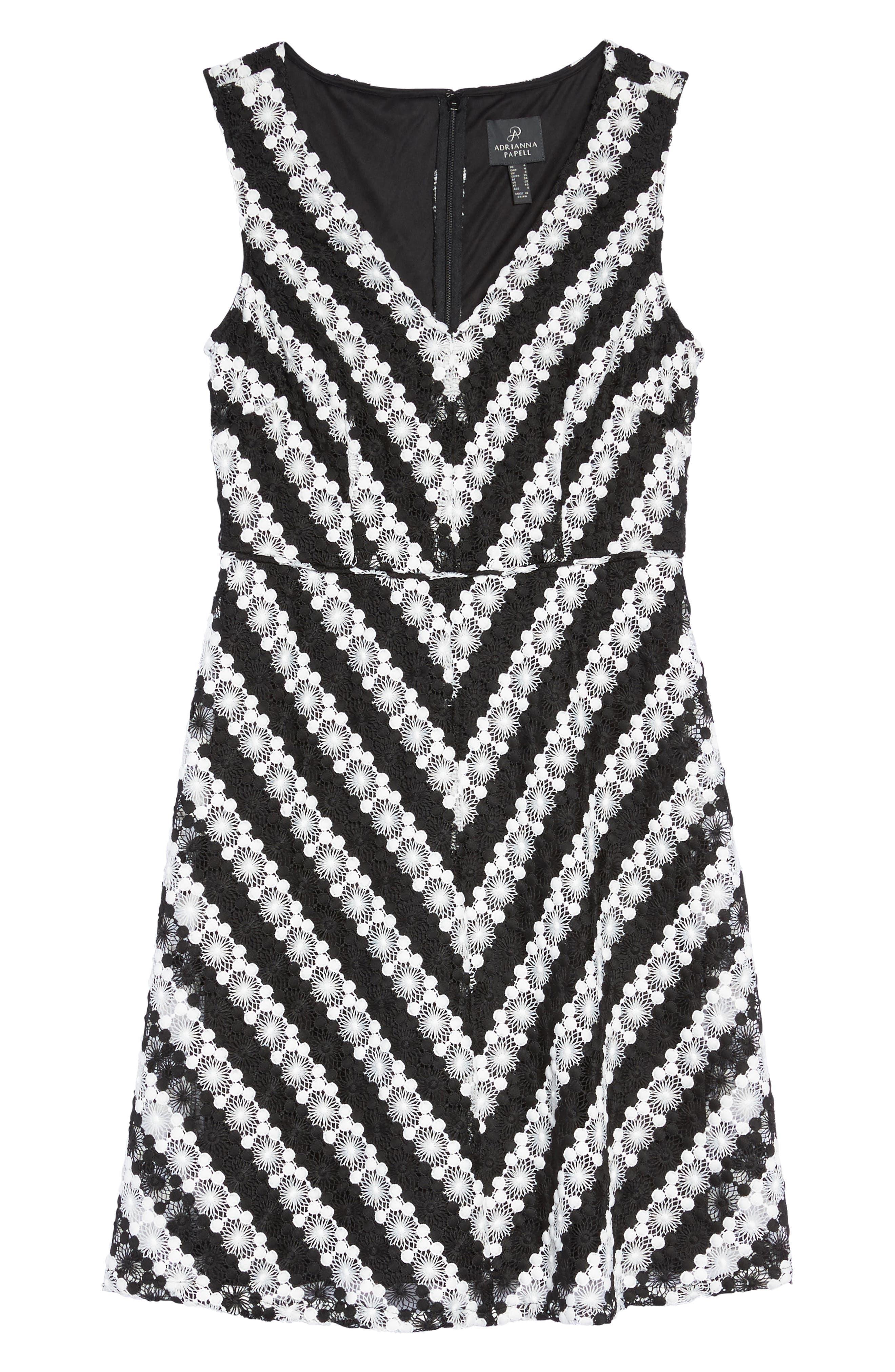 Fit & Flare Dress,                             Alternate thumbnail 6, color,                             009
