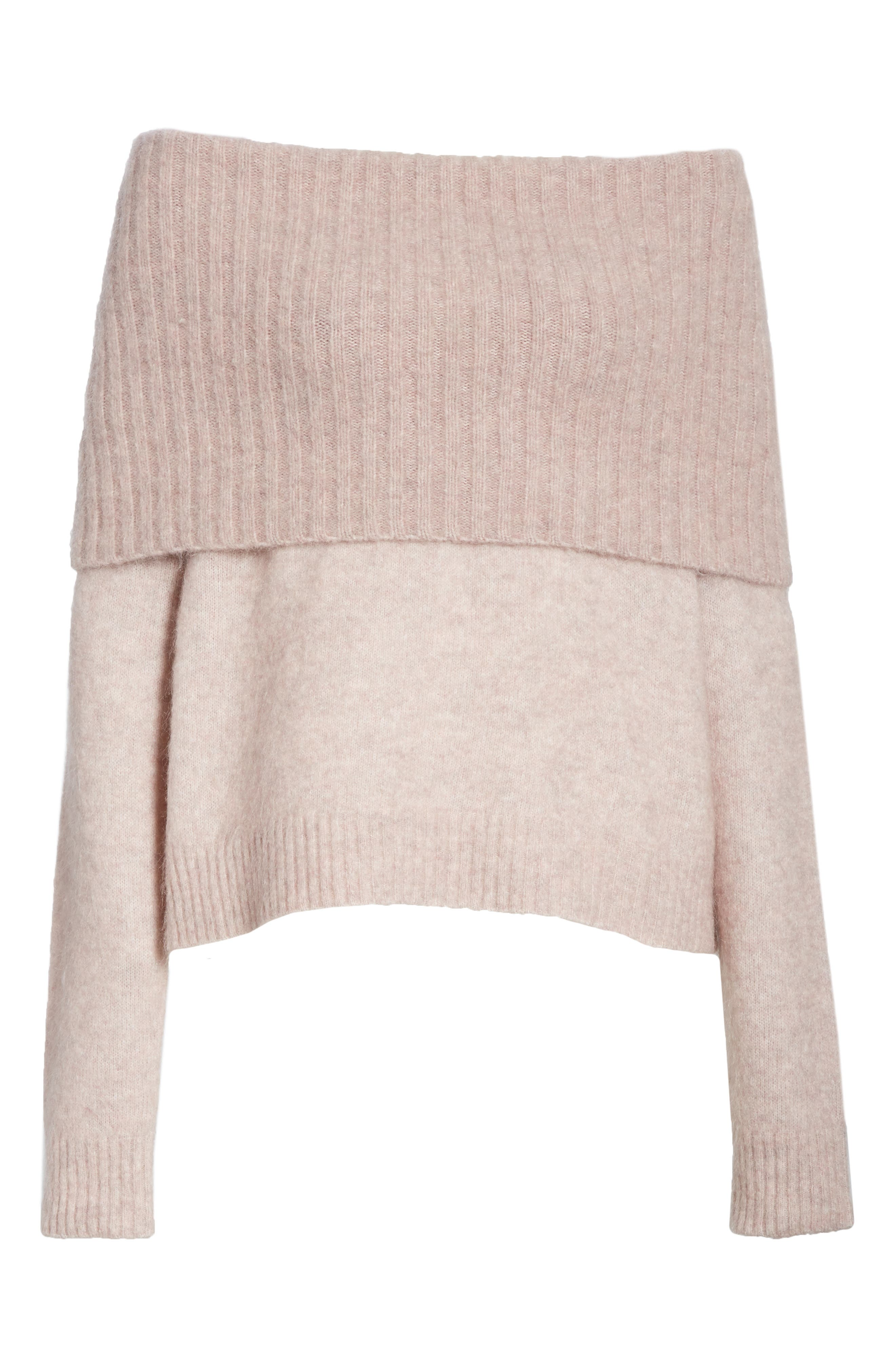 Off the Shoulder Sweater,                             Alternate thumbnail 6, color,                             650