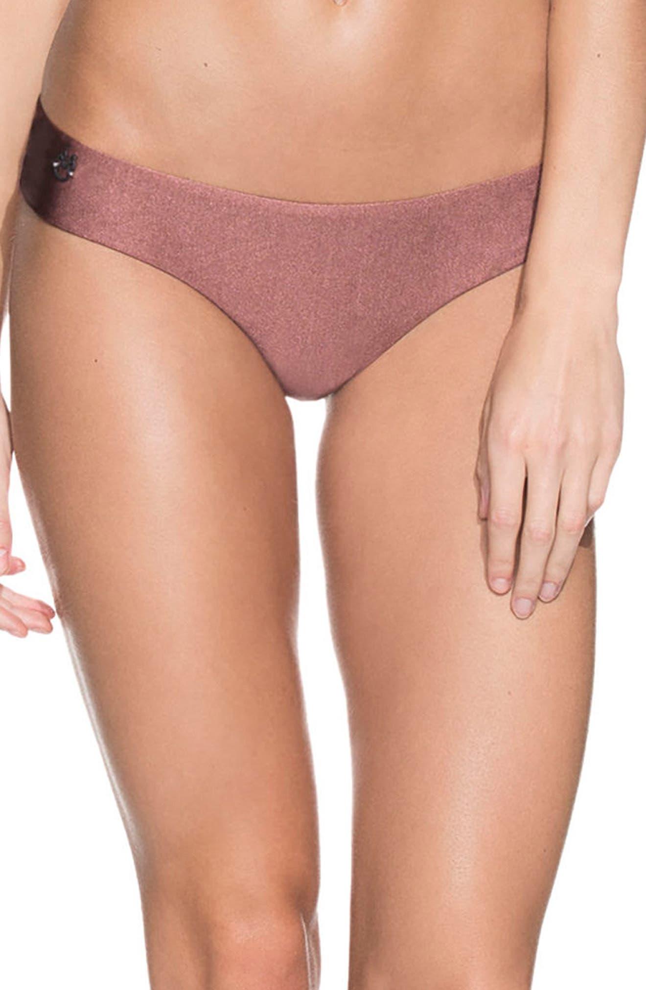 Shimmering Cognac Sublime Reversible Bikini Bottoms,                         Main,                         color, 221