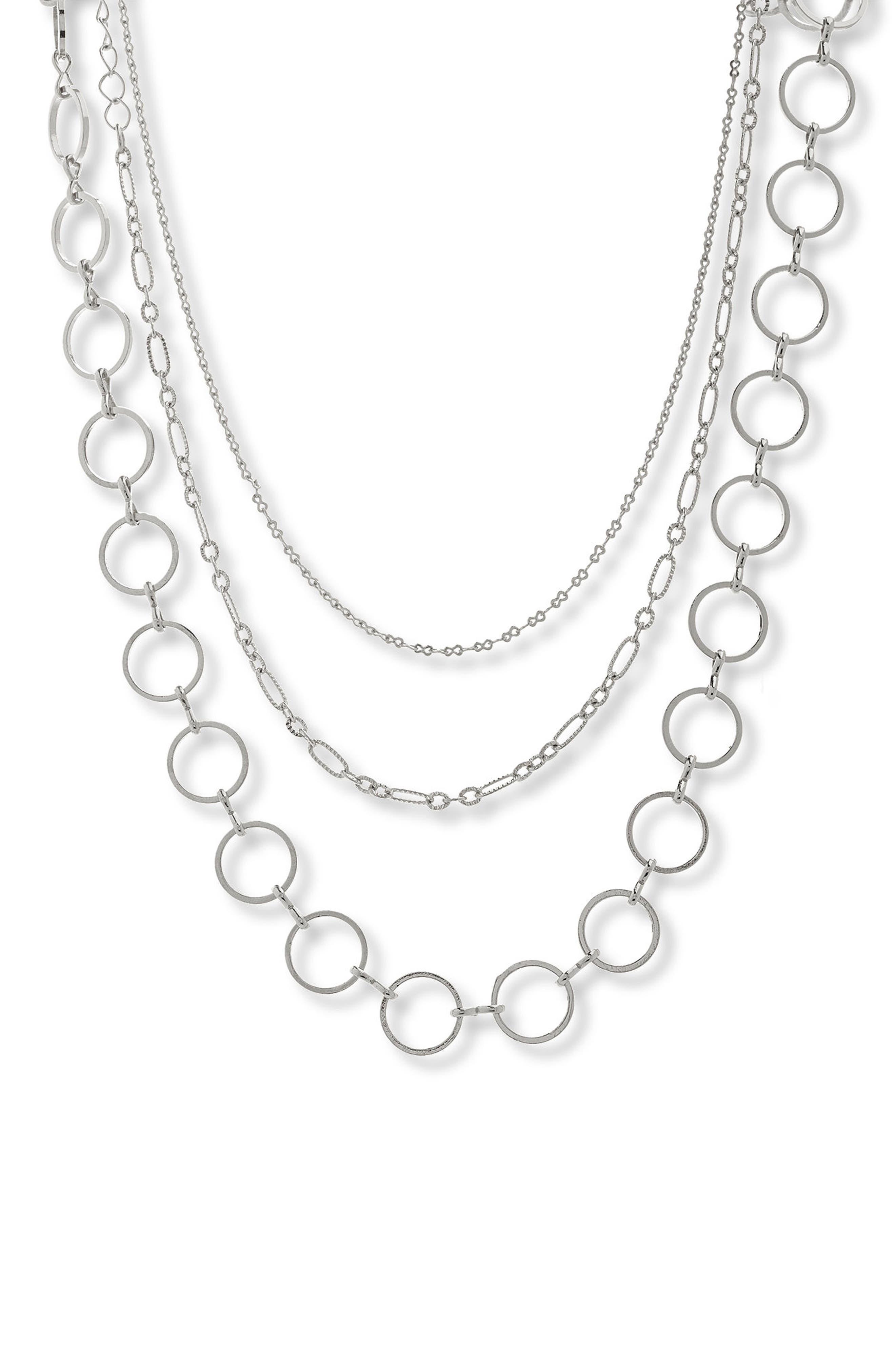 Layered Chain Choker,                         Main,                         color, 040