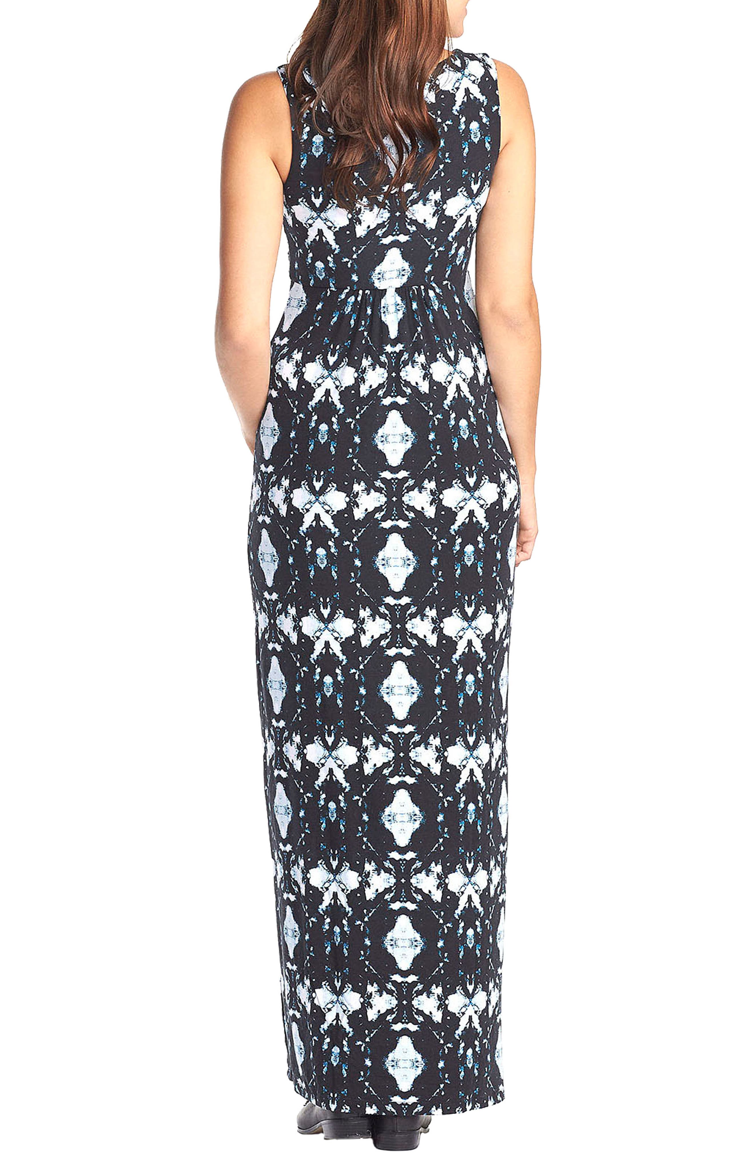 'Callie' Jersey Maxi Maternity Dress,                             Alternate thumbnail 2, color,                             INK BLOTS