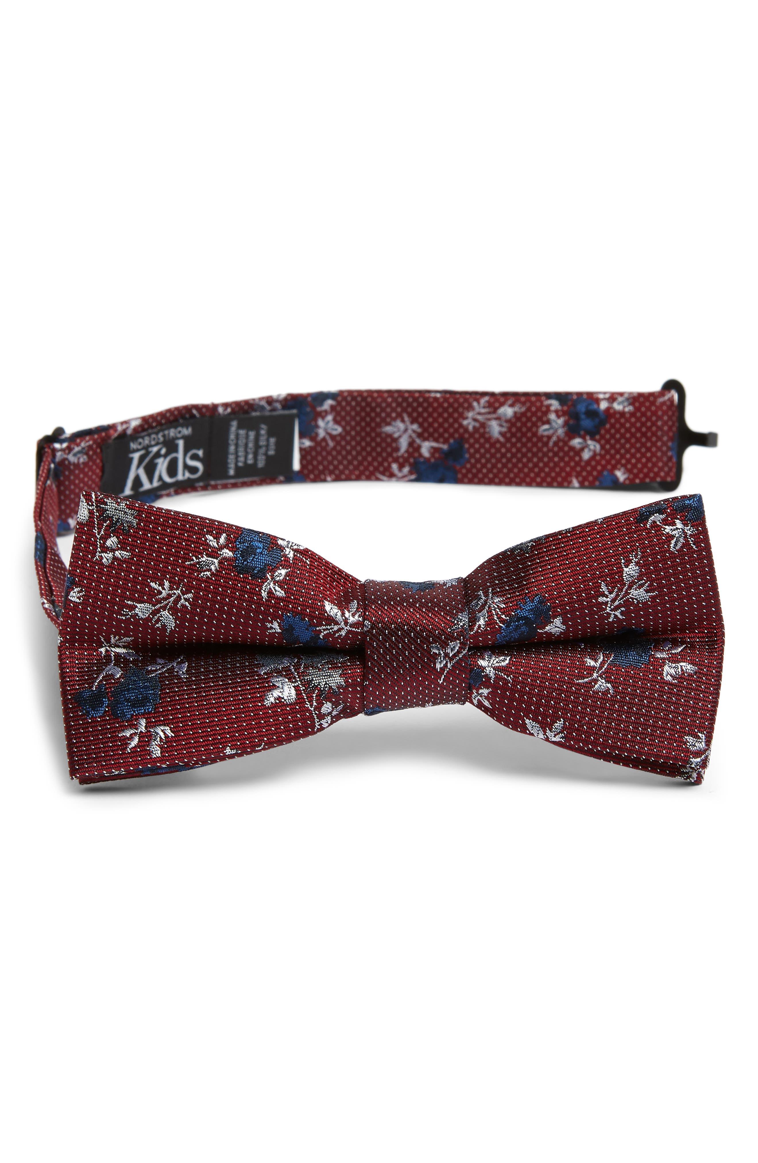 Boys Nordstrom Ditsy Rose Silk Bow Tie