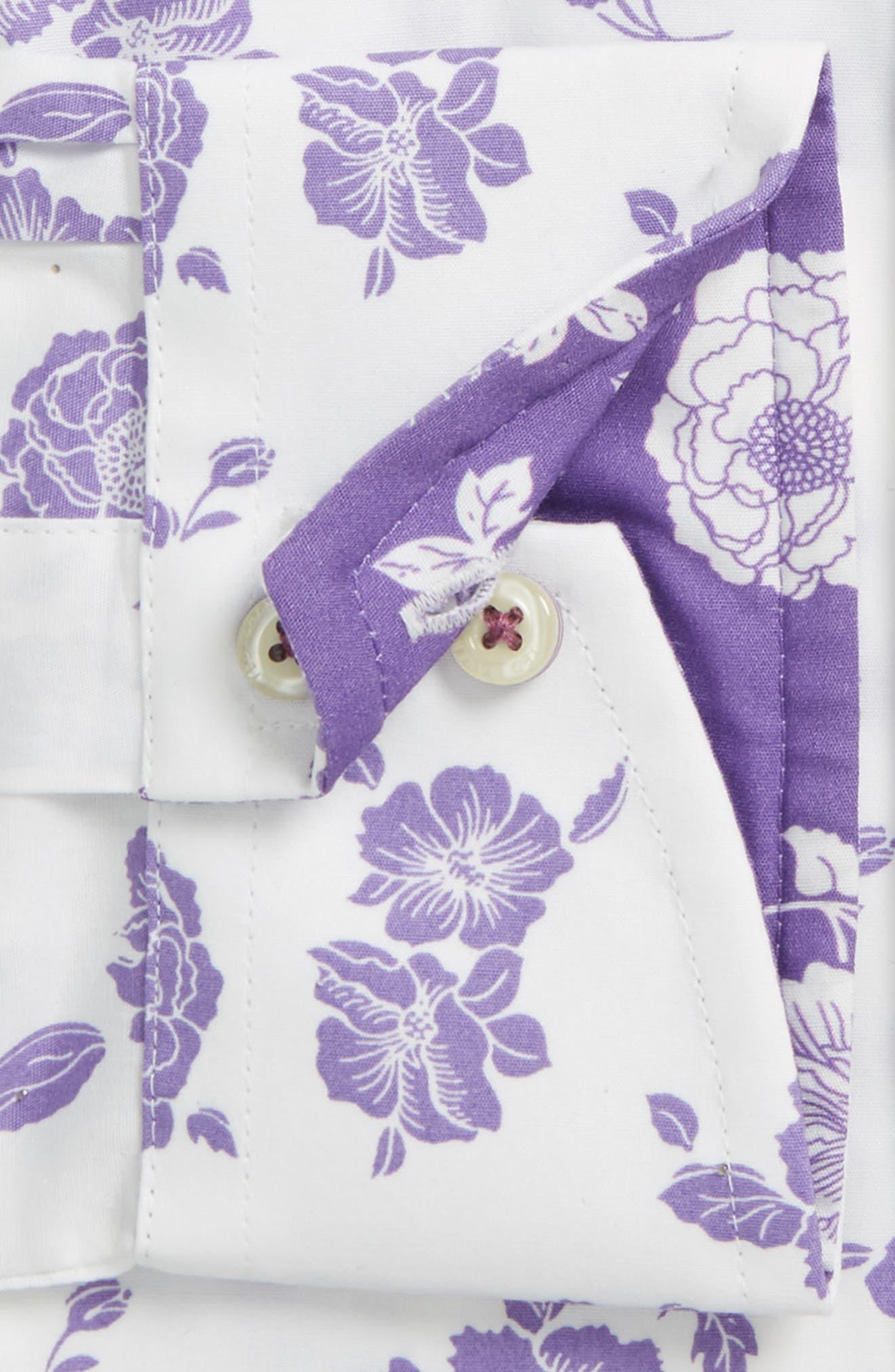 Trim Fit Floral Dress Shirt,                             Alternate thumbnail 2, color,                             510