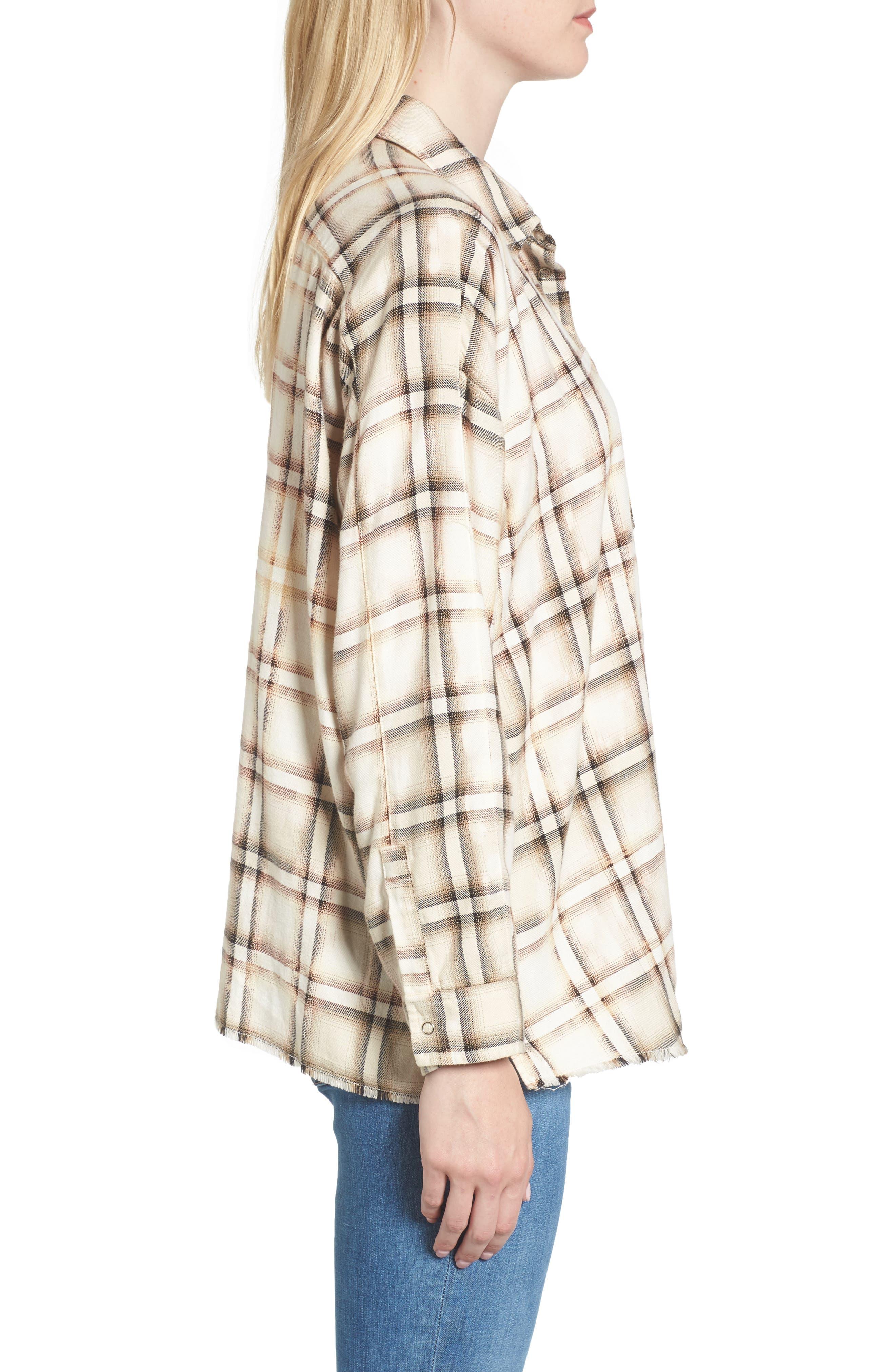Josie Flannel Shirt,                             Alternate thumbnail 3, color,                             909