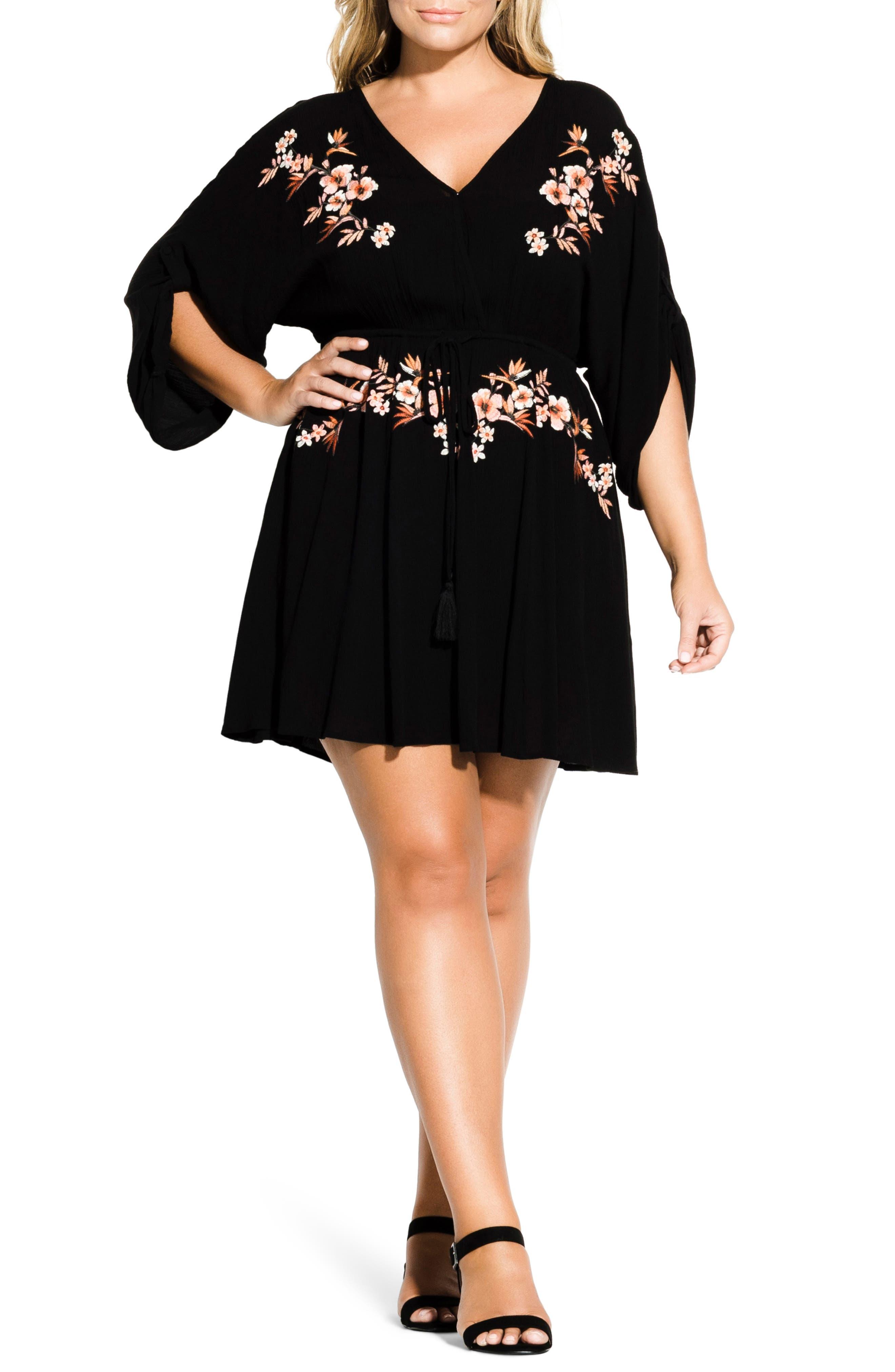 Plus Size City Chic Seville Tunic Dress, Black