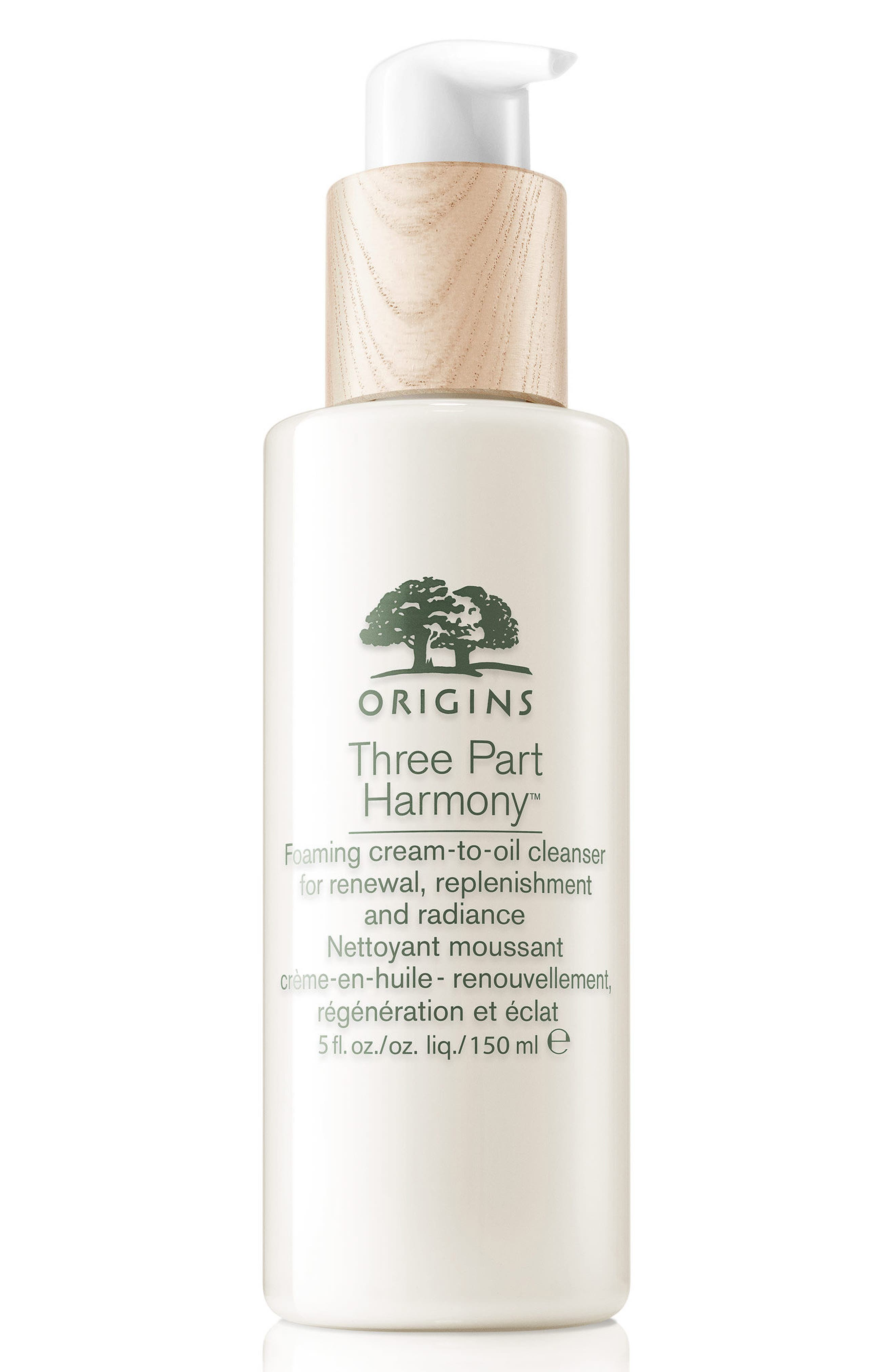 Three Part Harmony Foaming Cream-to-Oil Cleanser for Renewal, Replenishment & Radiance,                         Main,                         color, NO COLOR
